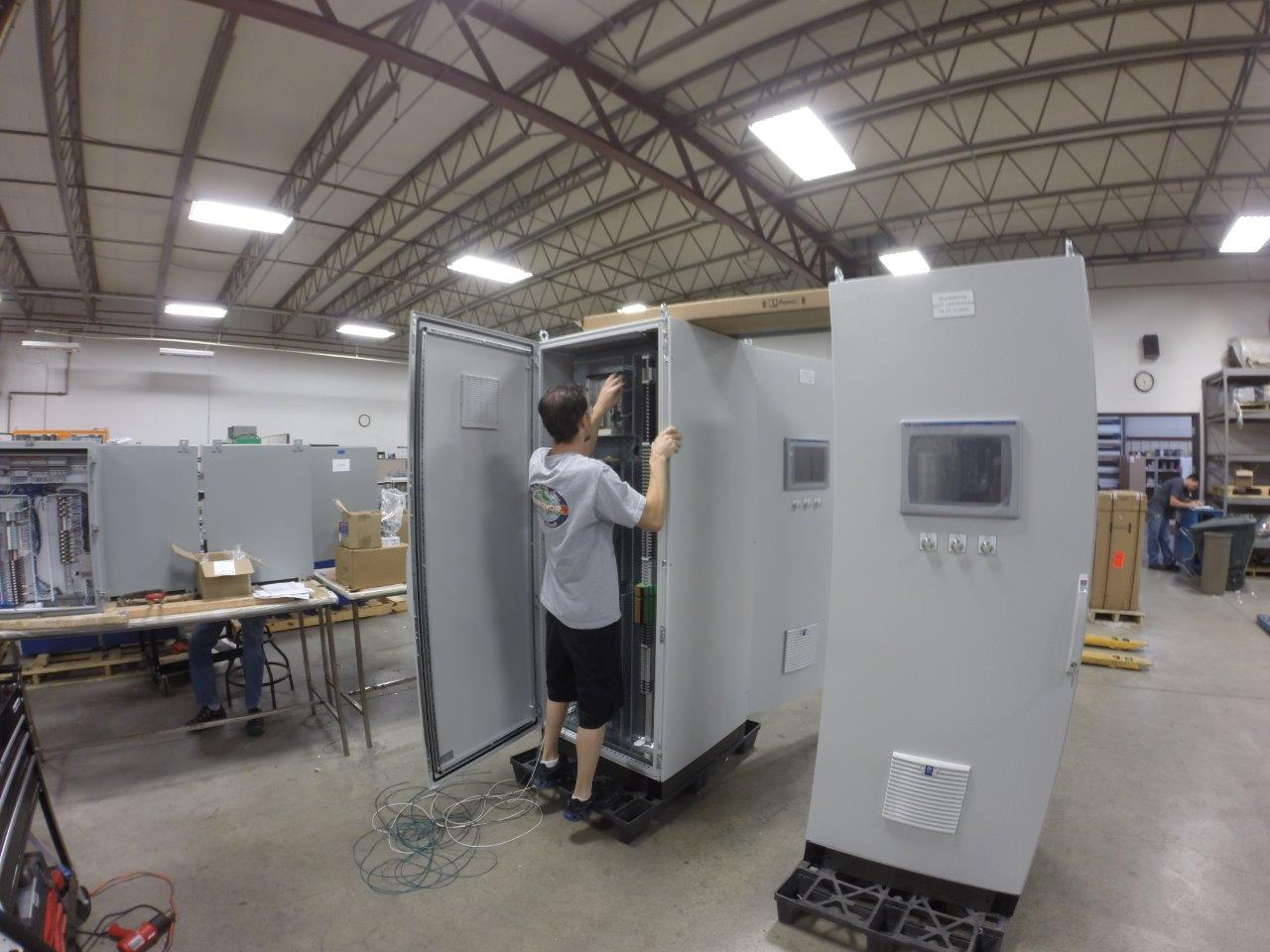 UCEC's  unique training  allows team members to choose what side of the shop they will specialize in: panel construction or technical wiring.