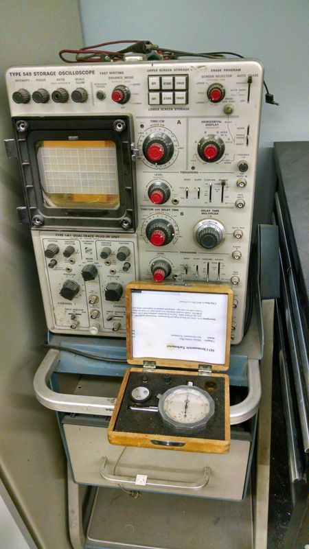 From the vault: Old testing equipment.