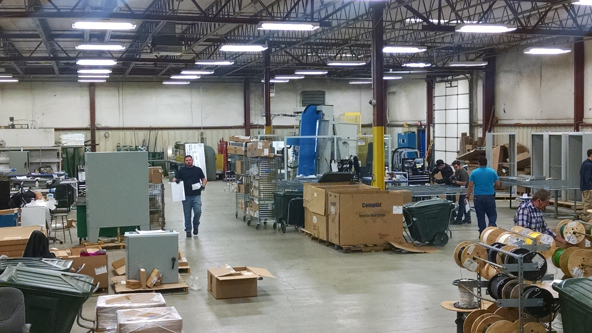 We're not using half of the shop for storage these days as we were when I started. It's all production space now.
