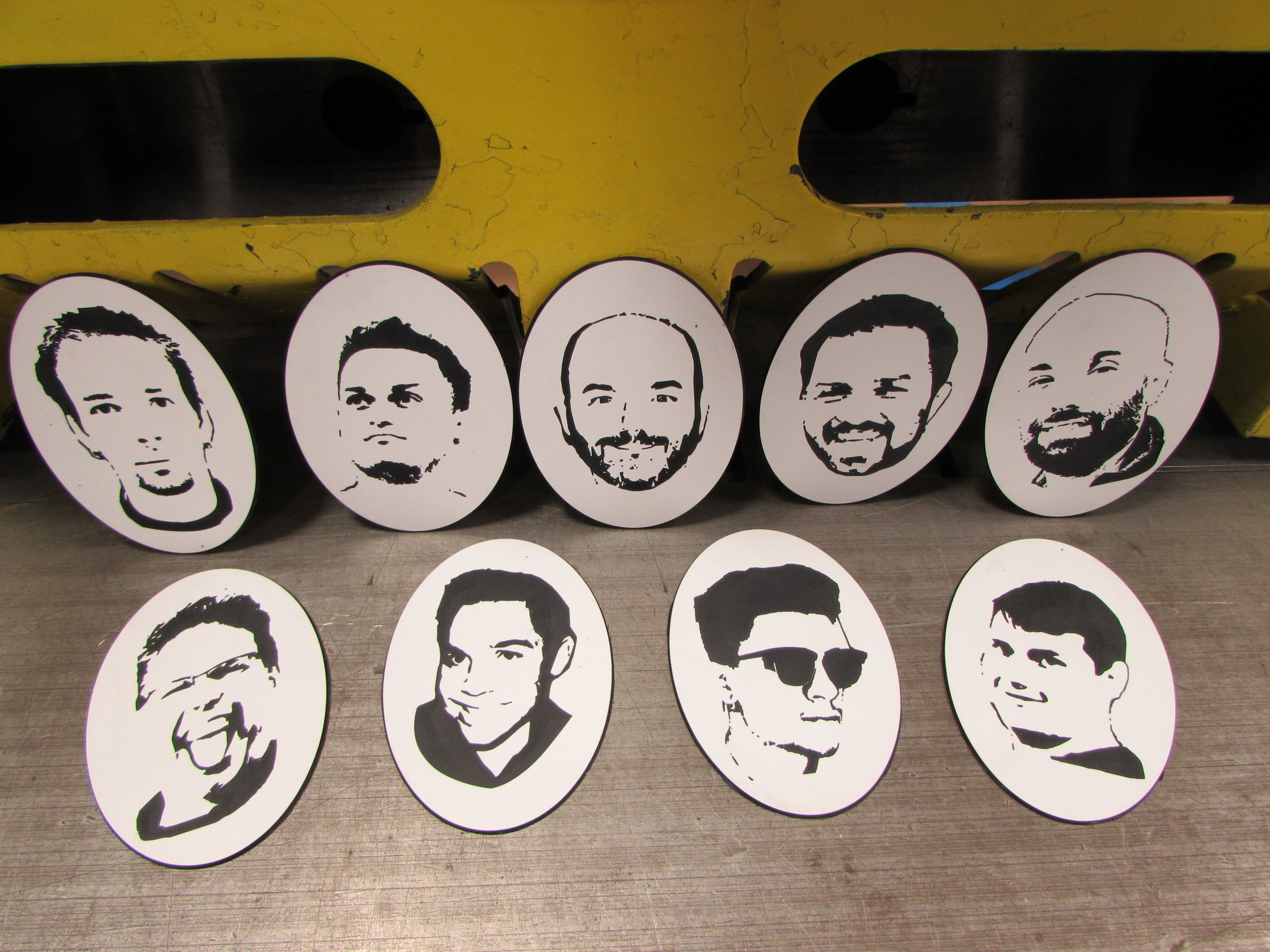 Engraved images of our UCEC team.