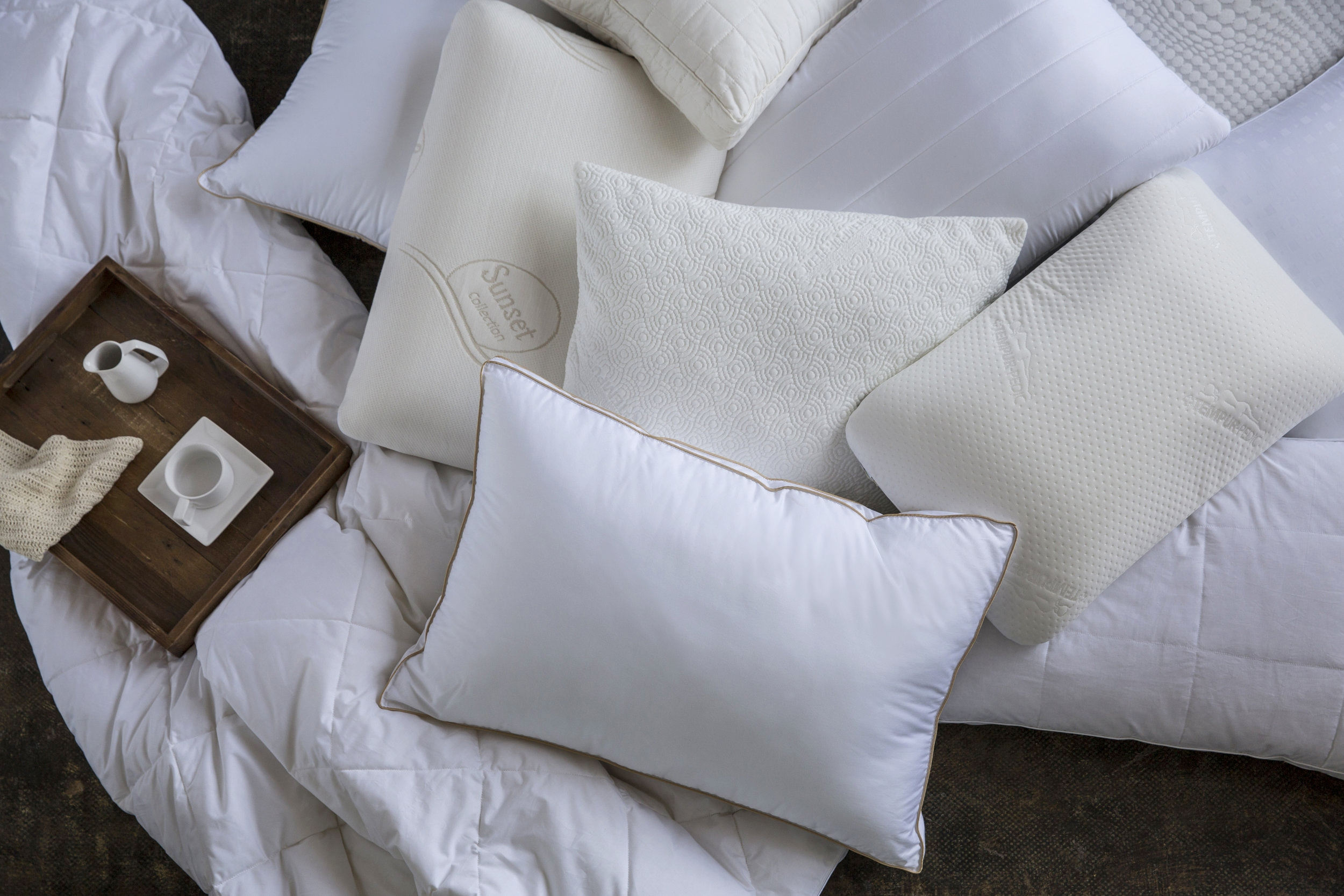 bedding - We produced  imagery to illuminate the loveliness of pillows, the suppleness of linens and their colorways. These were concepted not only to illustrate the quality of the bedding, but to define a more broad target market and to have aspirational images for social sharing.