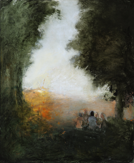 The Immortals,  2008  oil on canvas, 20 x 16 inches