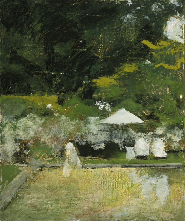 Picnic at World's End,  2010  oil on canvas, 20 x 16 inches