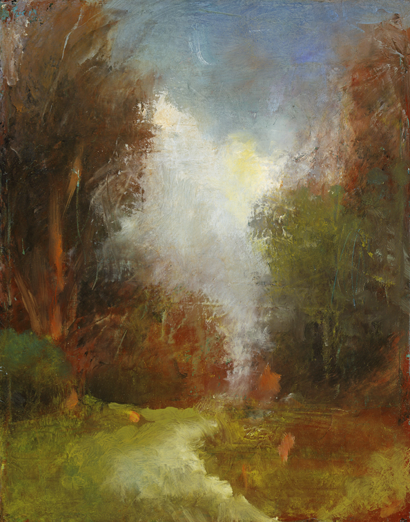 Walking the Land, study,  2010  oil on canvas, 10 x 8 inches