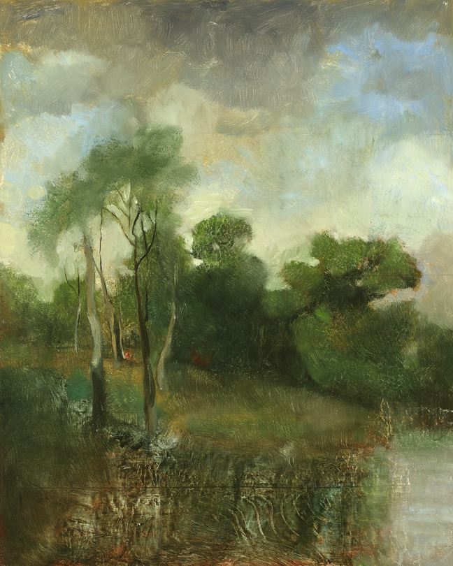 The Wooded Cove,  2012  oil on canvas, 20 x 16 inches