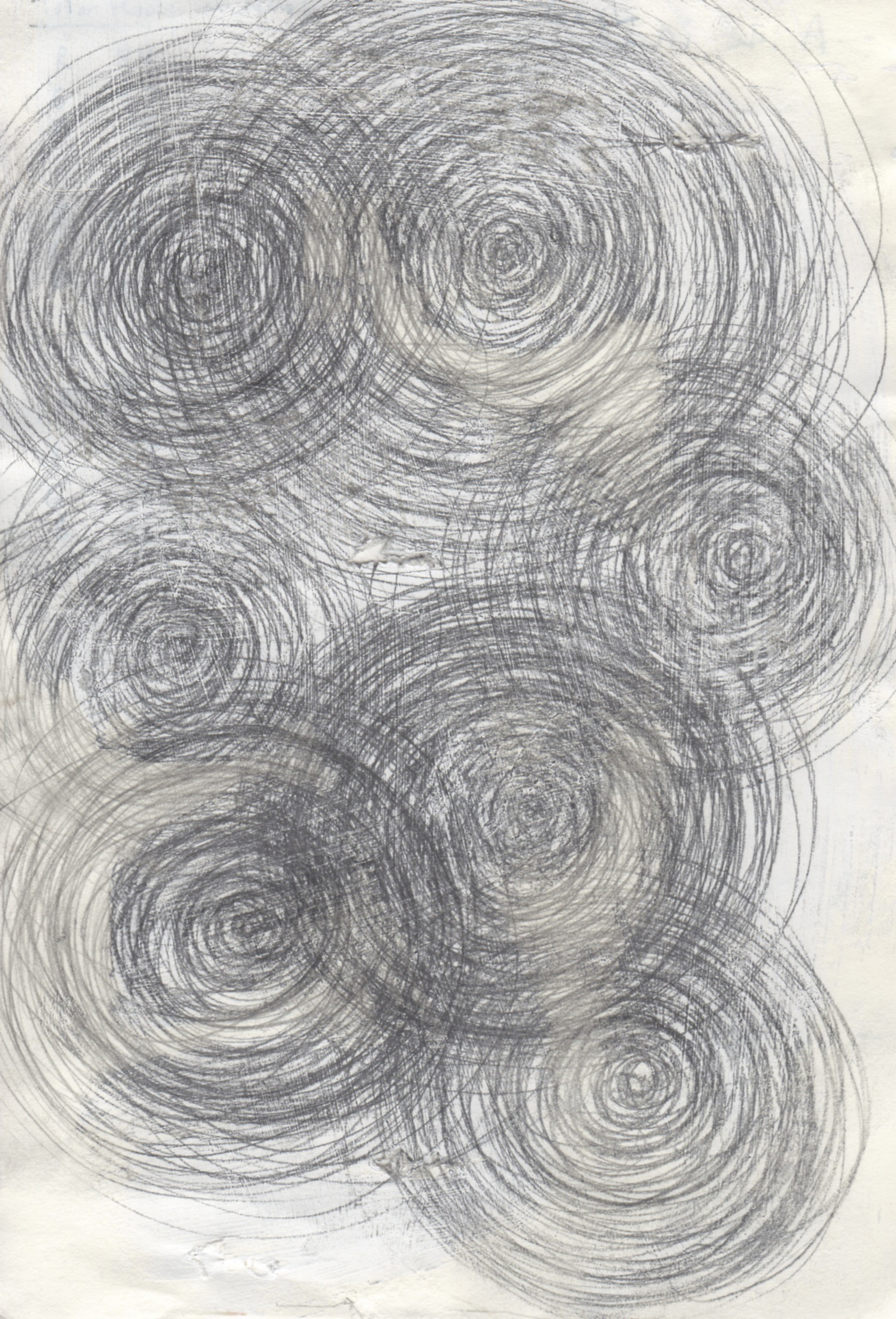 untitled 10,  2010  graphite on paper, 7 x 5 in