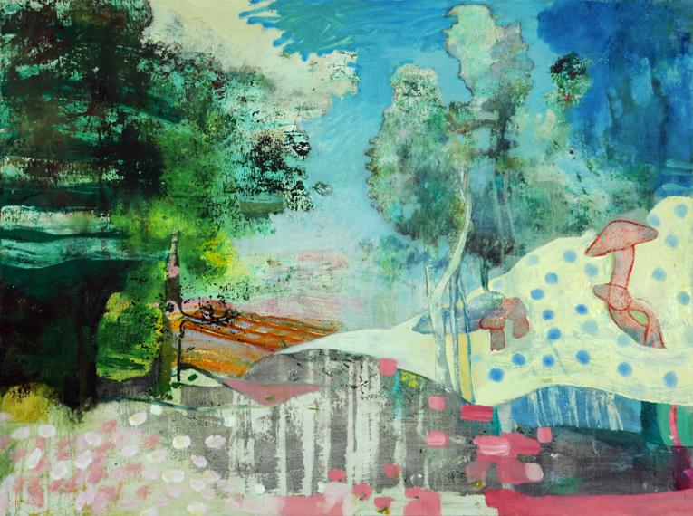 """Arcadia, 2015, oil on canvas, 36"""" x 48"""""""
