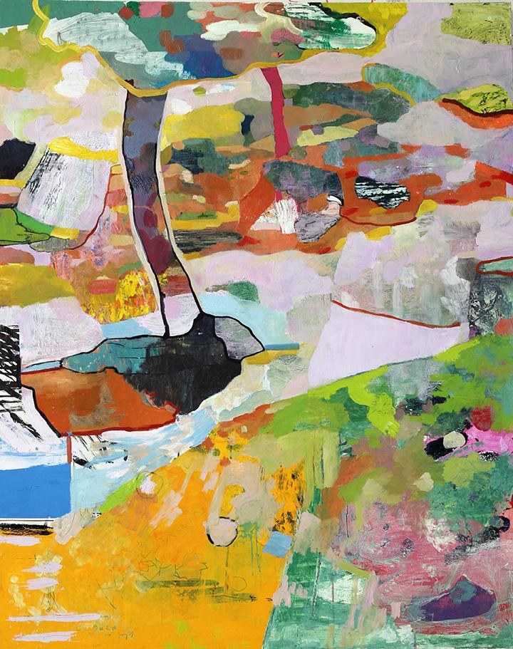"Fukushima mon amour, 2016, oil on canvas, 60"" x 48"""