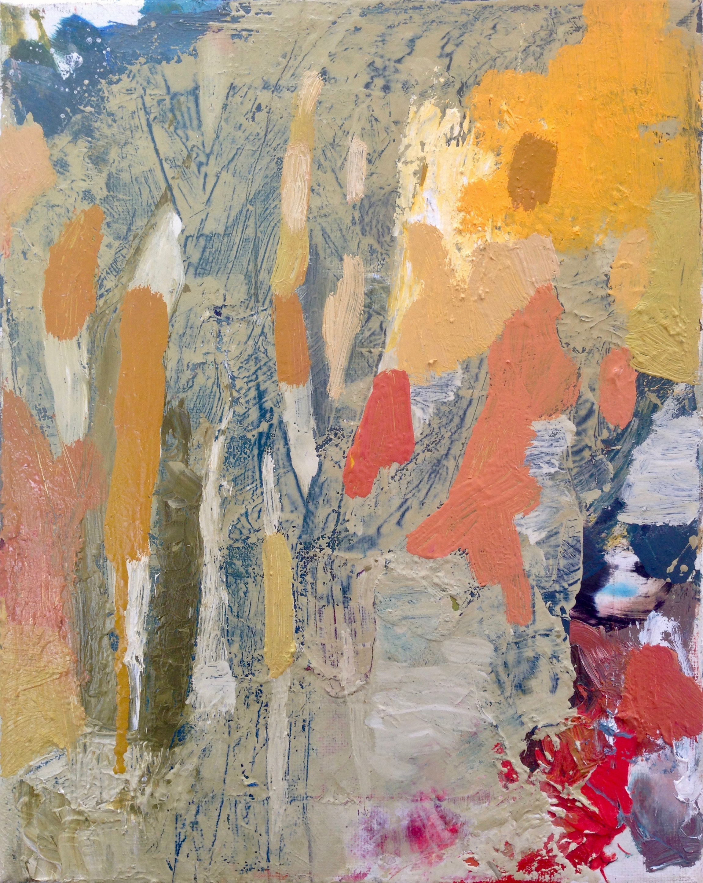 "scissor language [sl] 1, 2017  oil on canvas, 10"" x 8"""