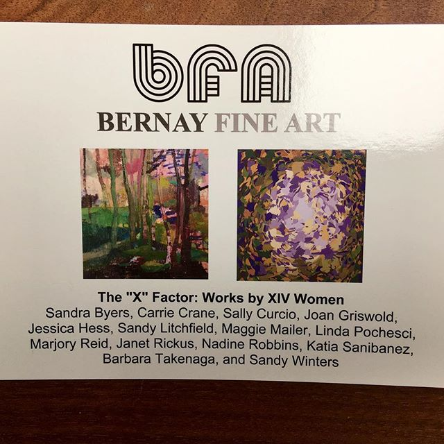 Opening Tonight: X Factor: Works by XIV Women at Bernay Fine Art, 325 Stockbridge Road, Great Barrington, MA 4 - 7 pm. Cover images left to right: Maggie Mailer, Katia Santibañez. So happy to included with this group of amazing painters, hope to see you tonight! #openingreception #women #painters #tonight #hooray