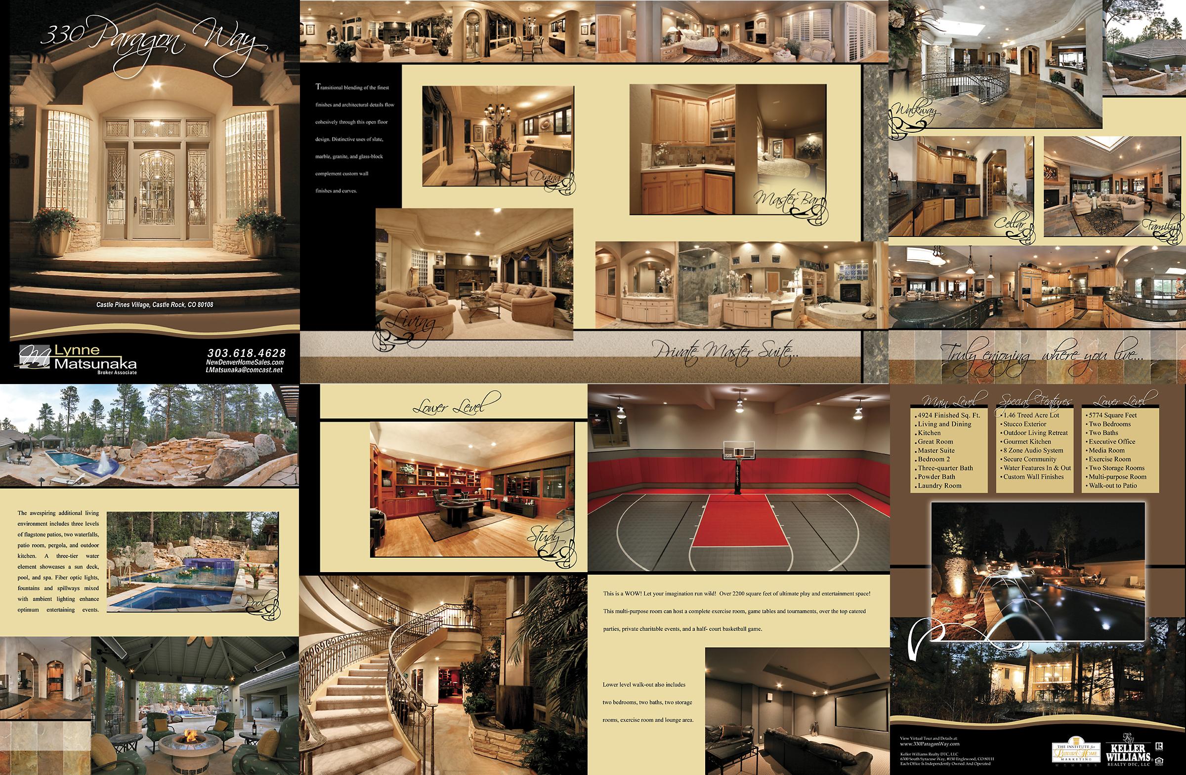 8 page custom brochure $500