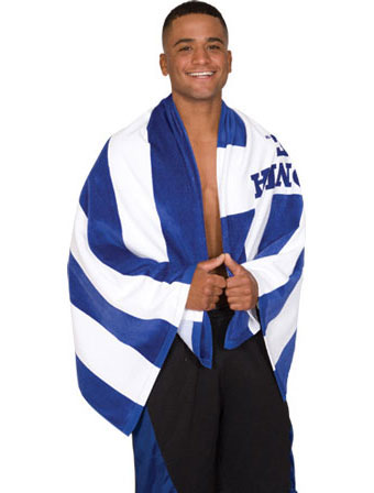 Cabana Rugby Stripe Beach Towel
