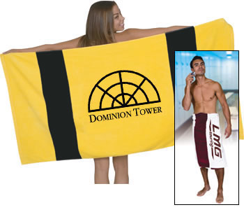 Oversize Rugby Stripe Beach Towel