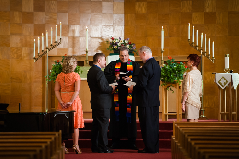 same sex wedding in church in downers grove