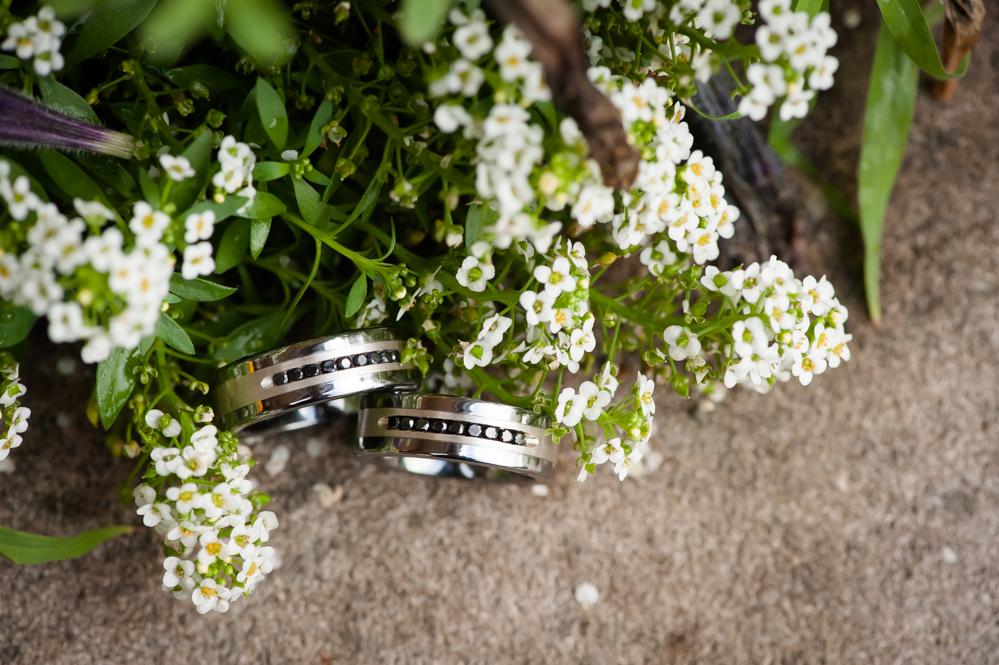 wedding rings of two grooms