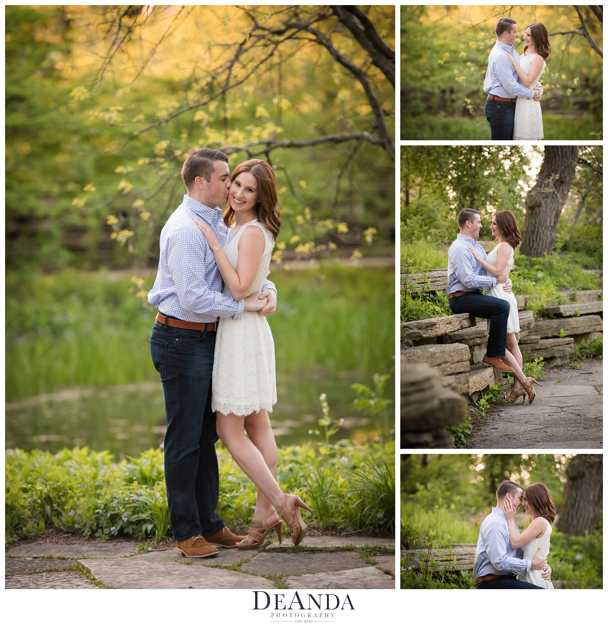 Lily Pond Engagement Photo