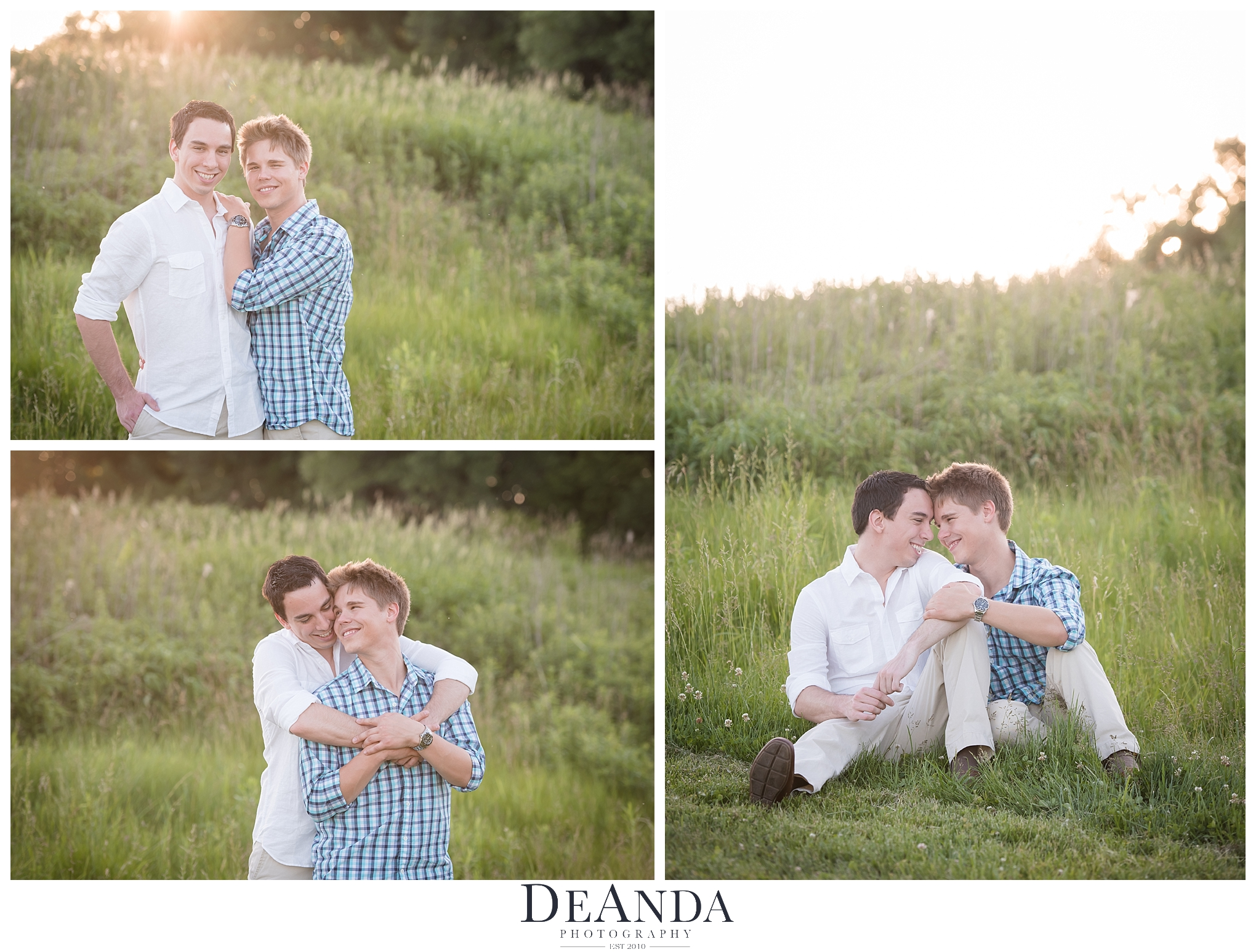 same sex engagement photo