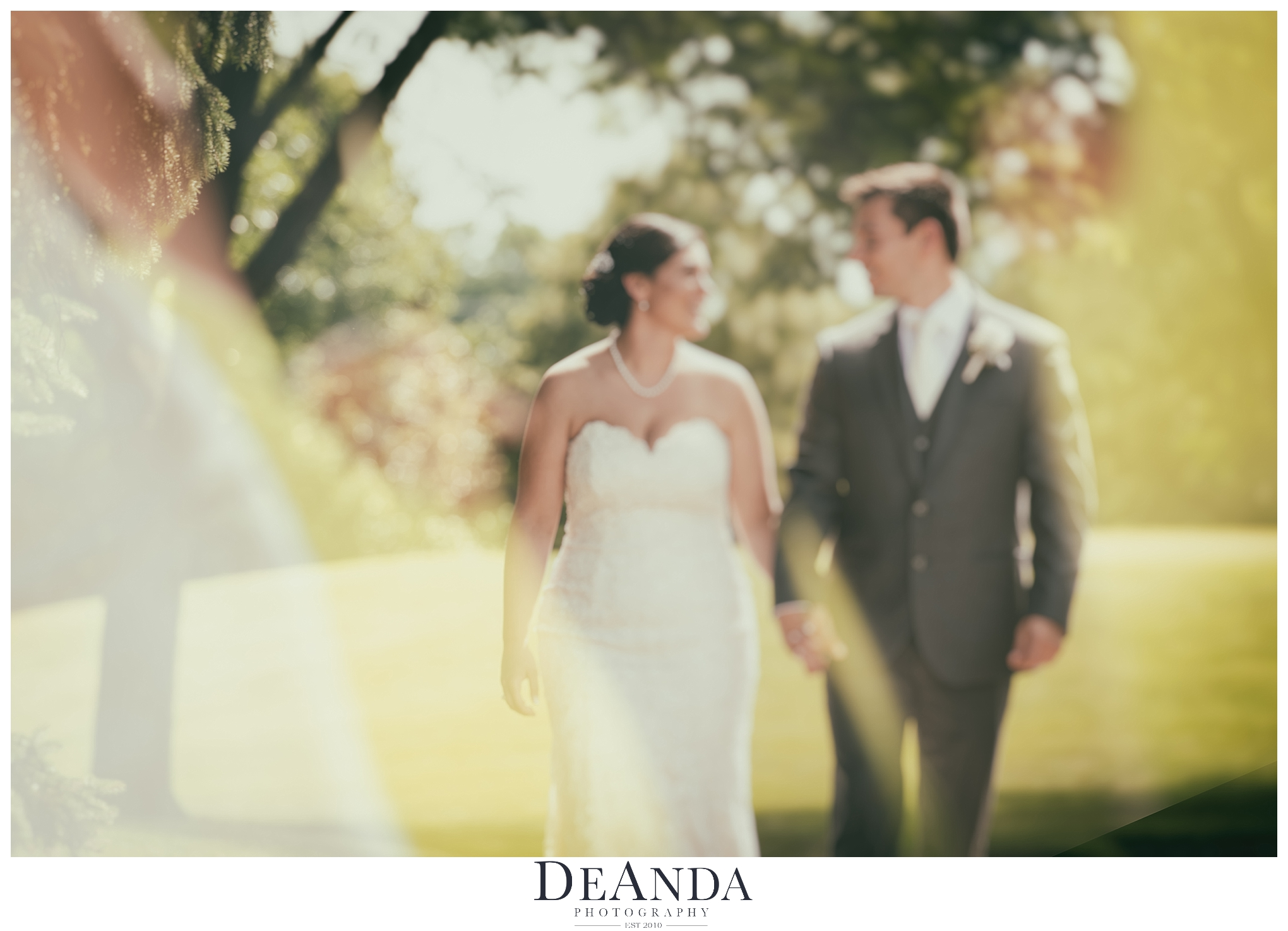 artistic bride and groom portrait