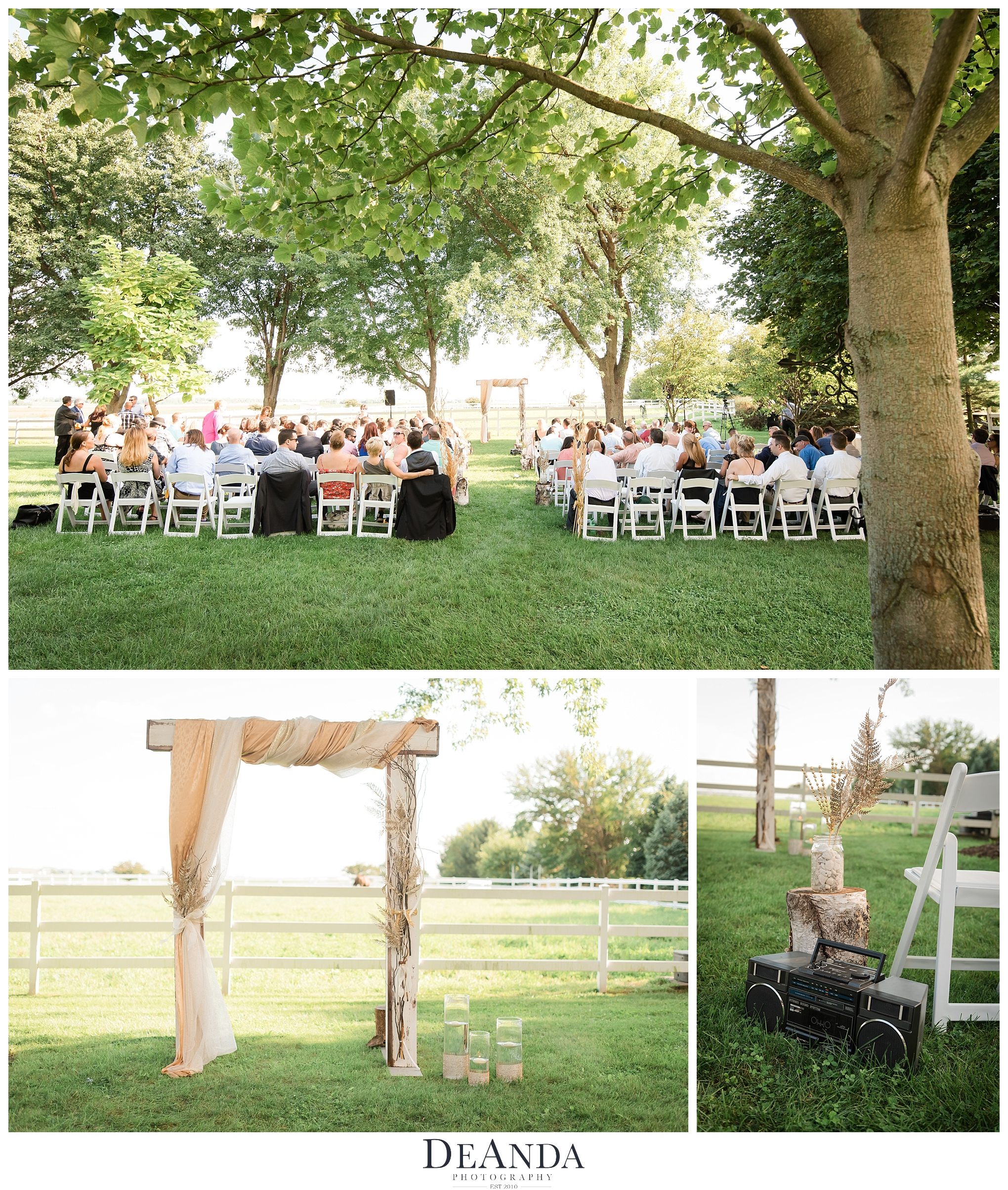 Northforks Farm Wedding Ceremony