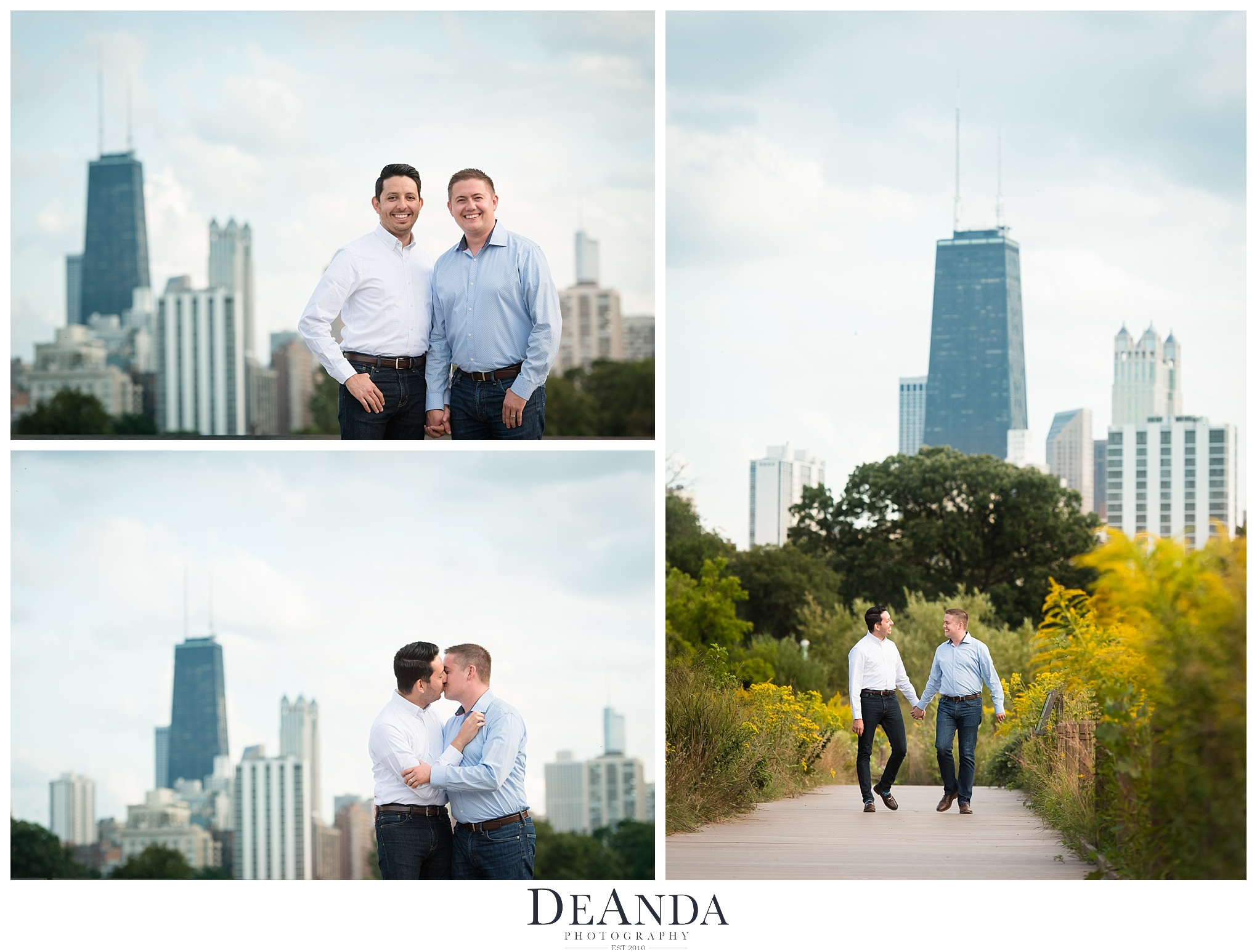 Gay Engagement Photography in Chicago