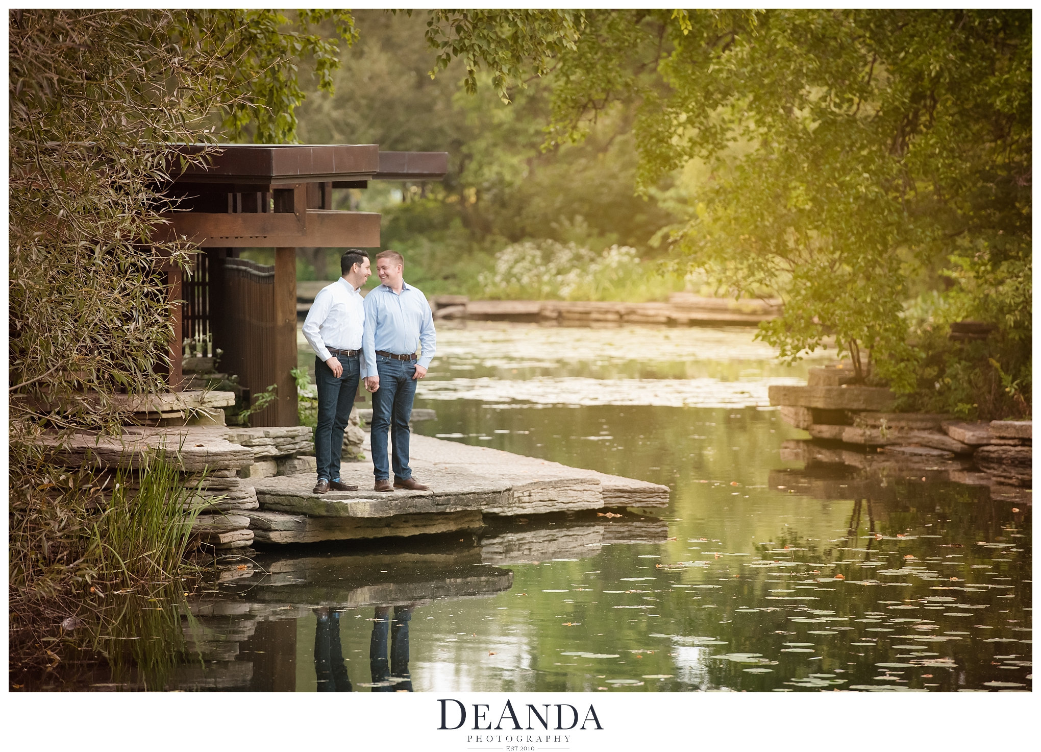 Same Sex Engagement Photography at the Lily Pond