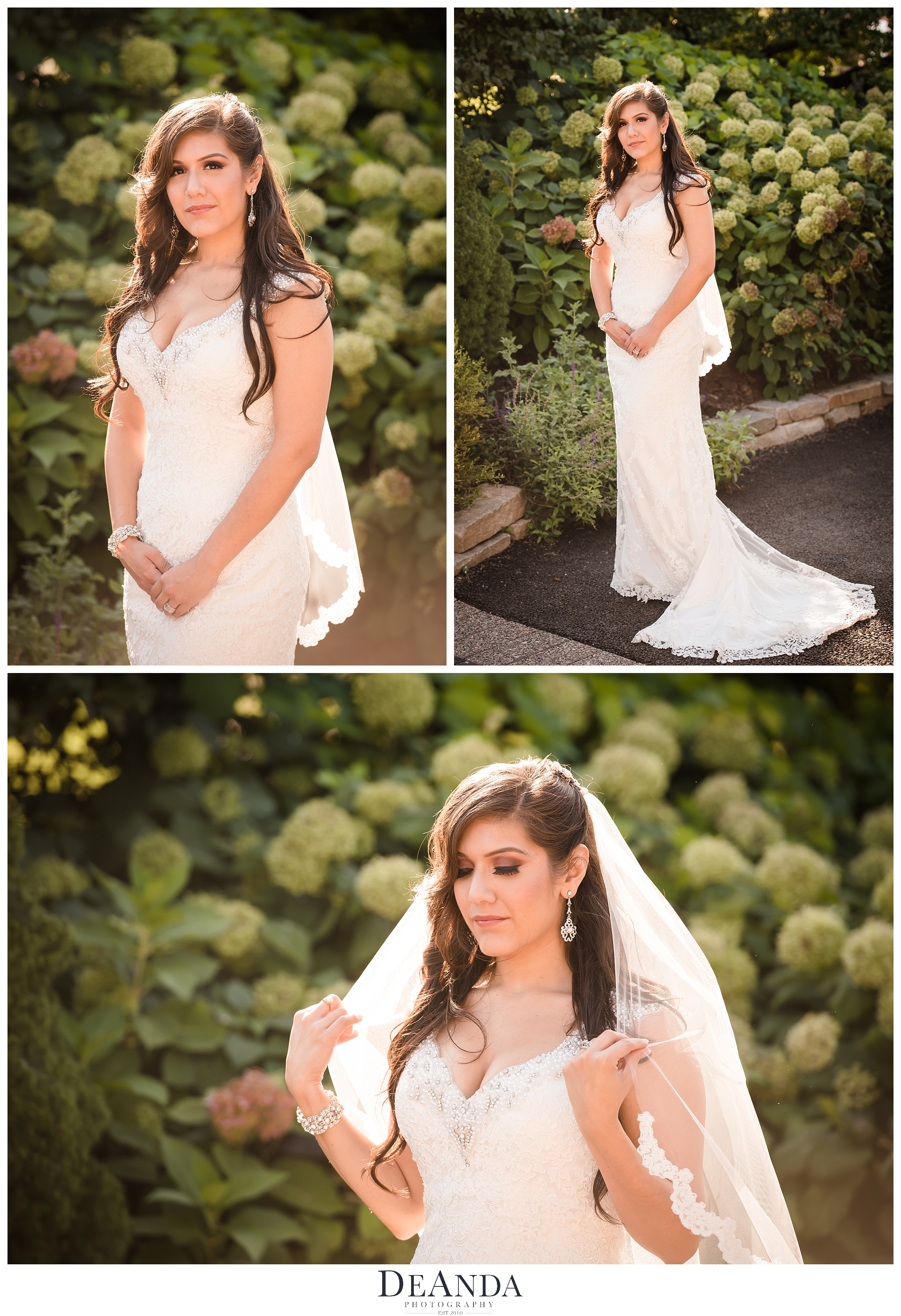 bridal portraits at silver lake in orland park
