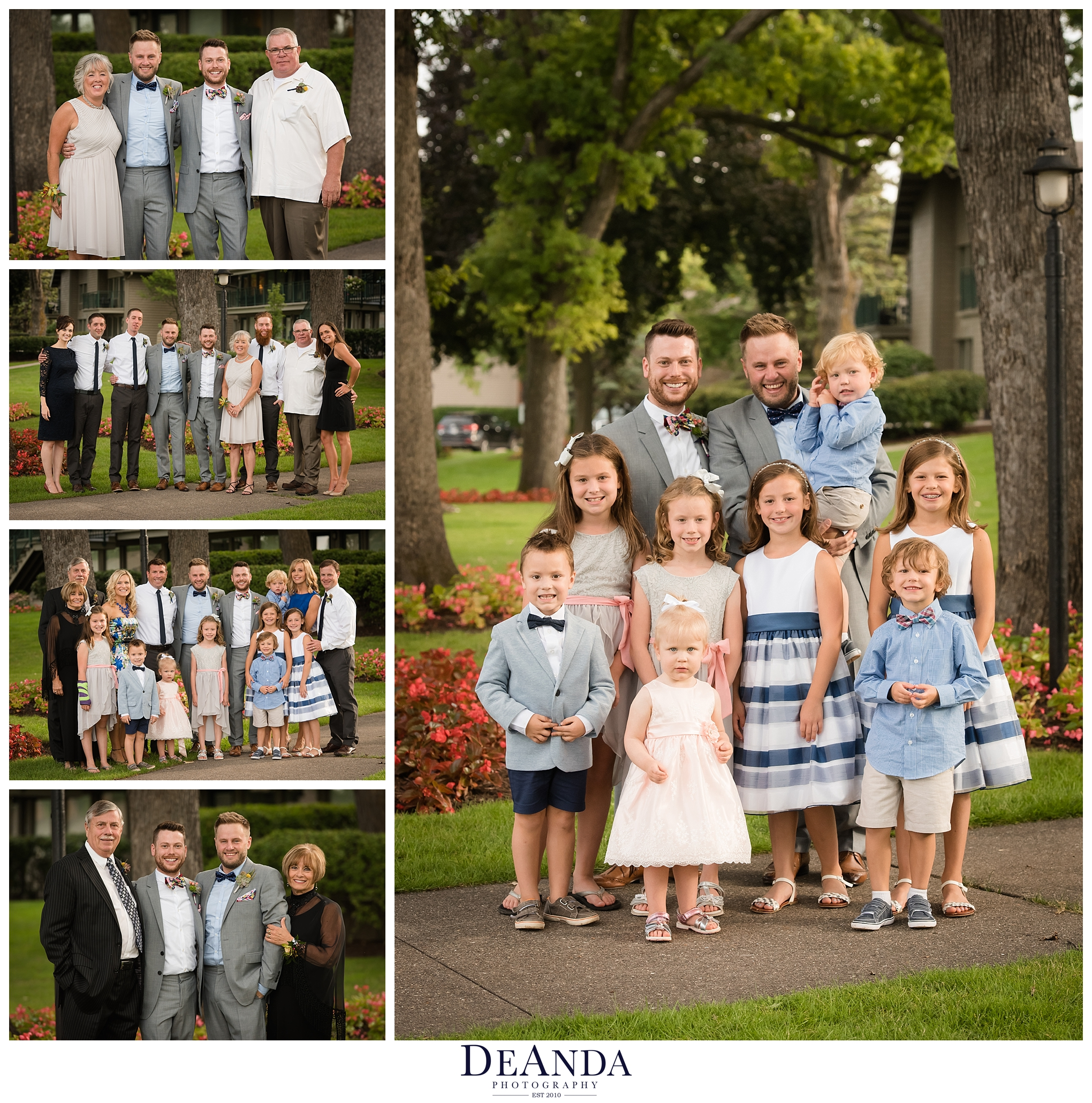 family formal photos at the abbey resort