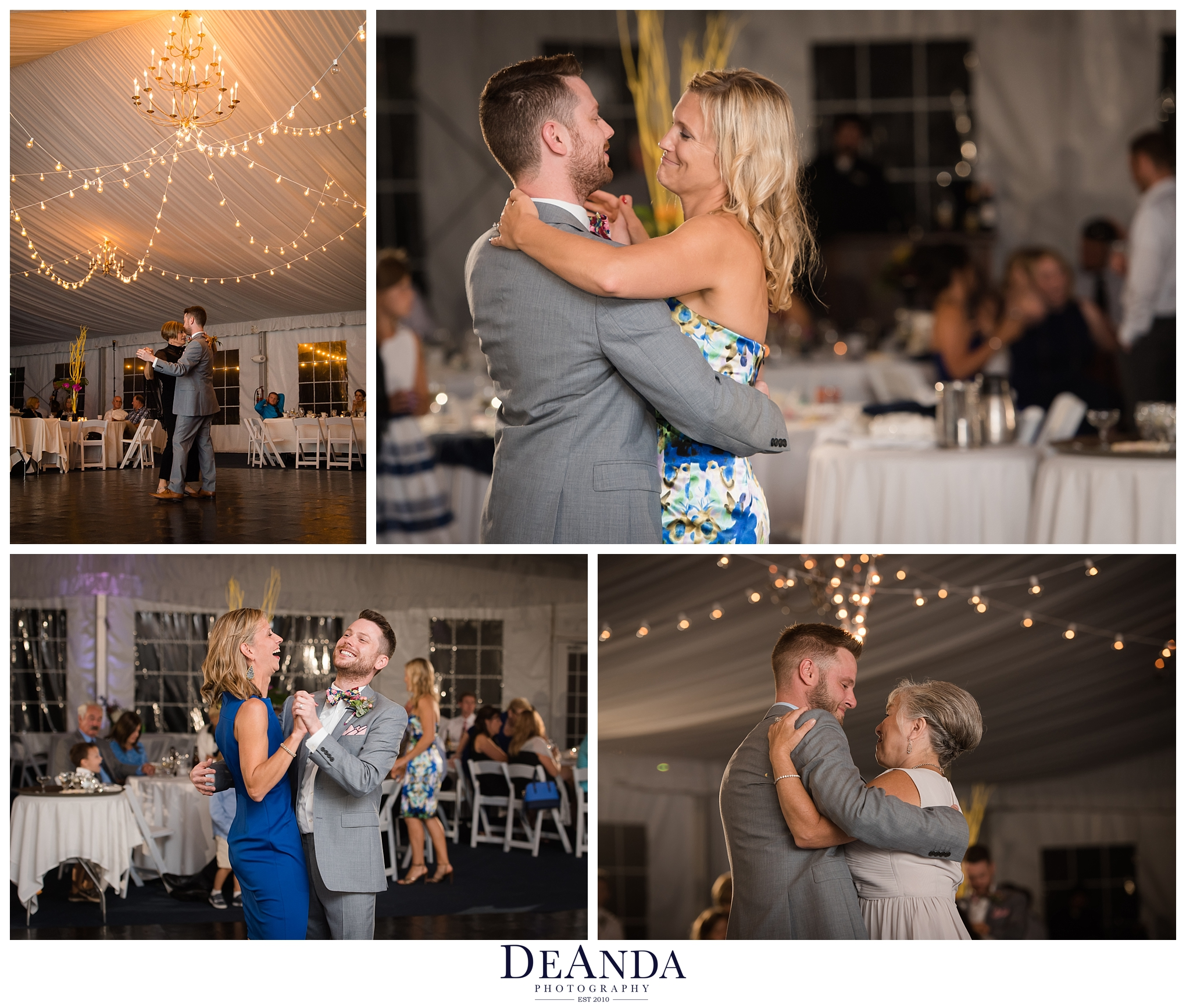 grooms first dances with moms and sister