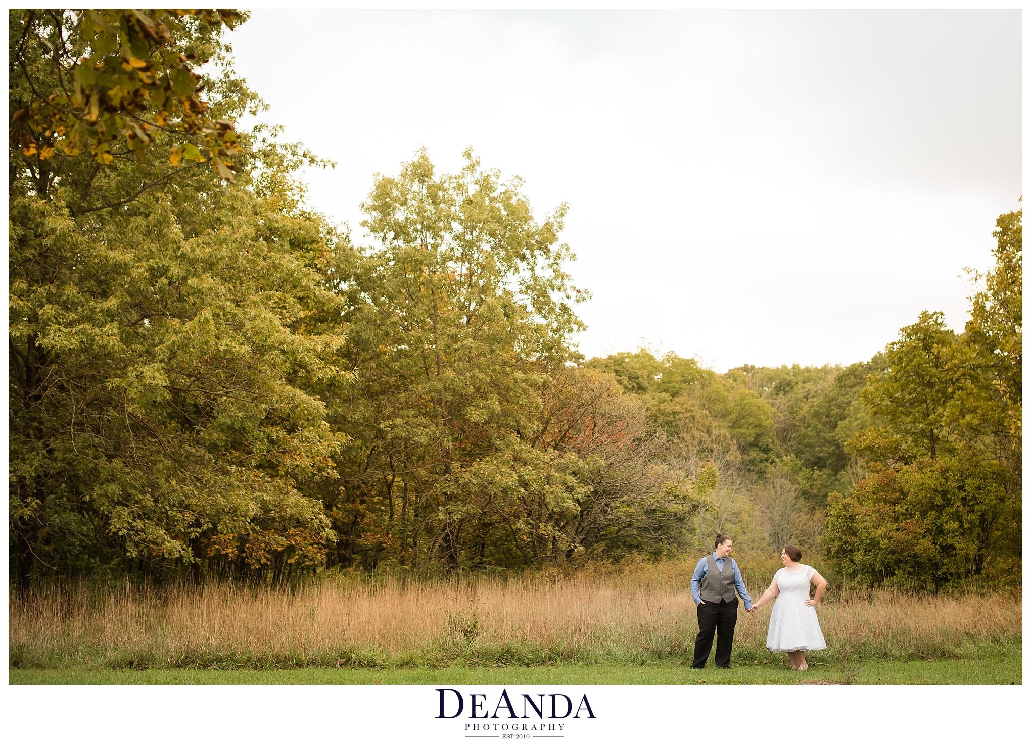 two brides epic photo