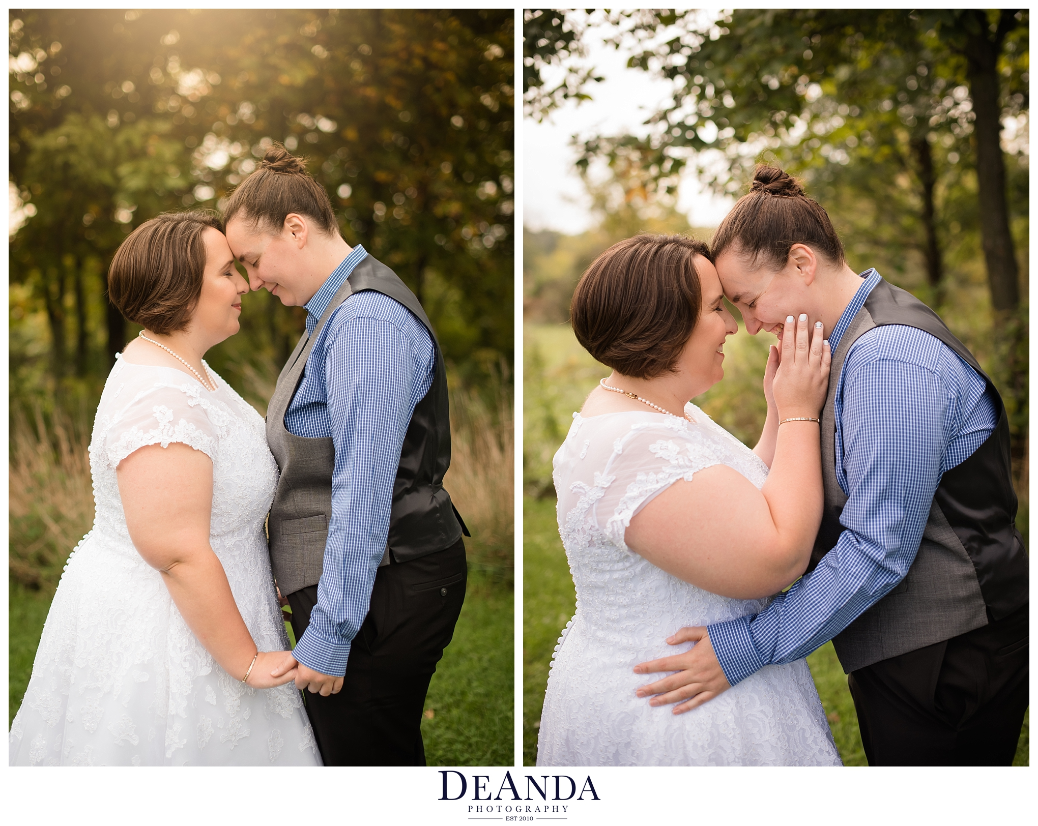 sweet photos of two brides together