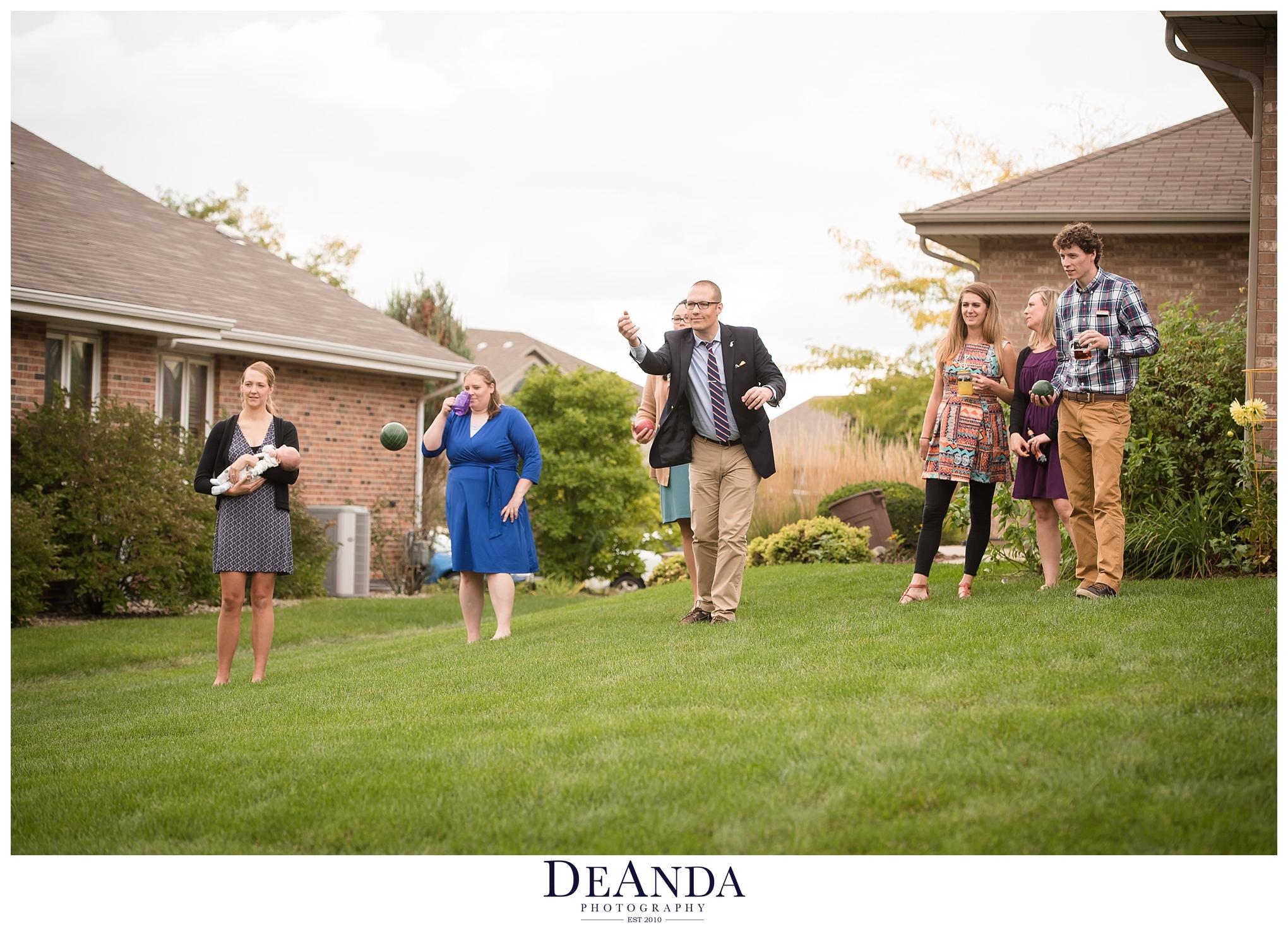 lawn games at wedding idea