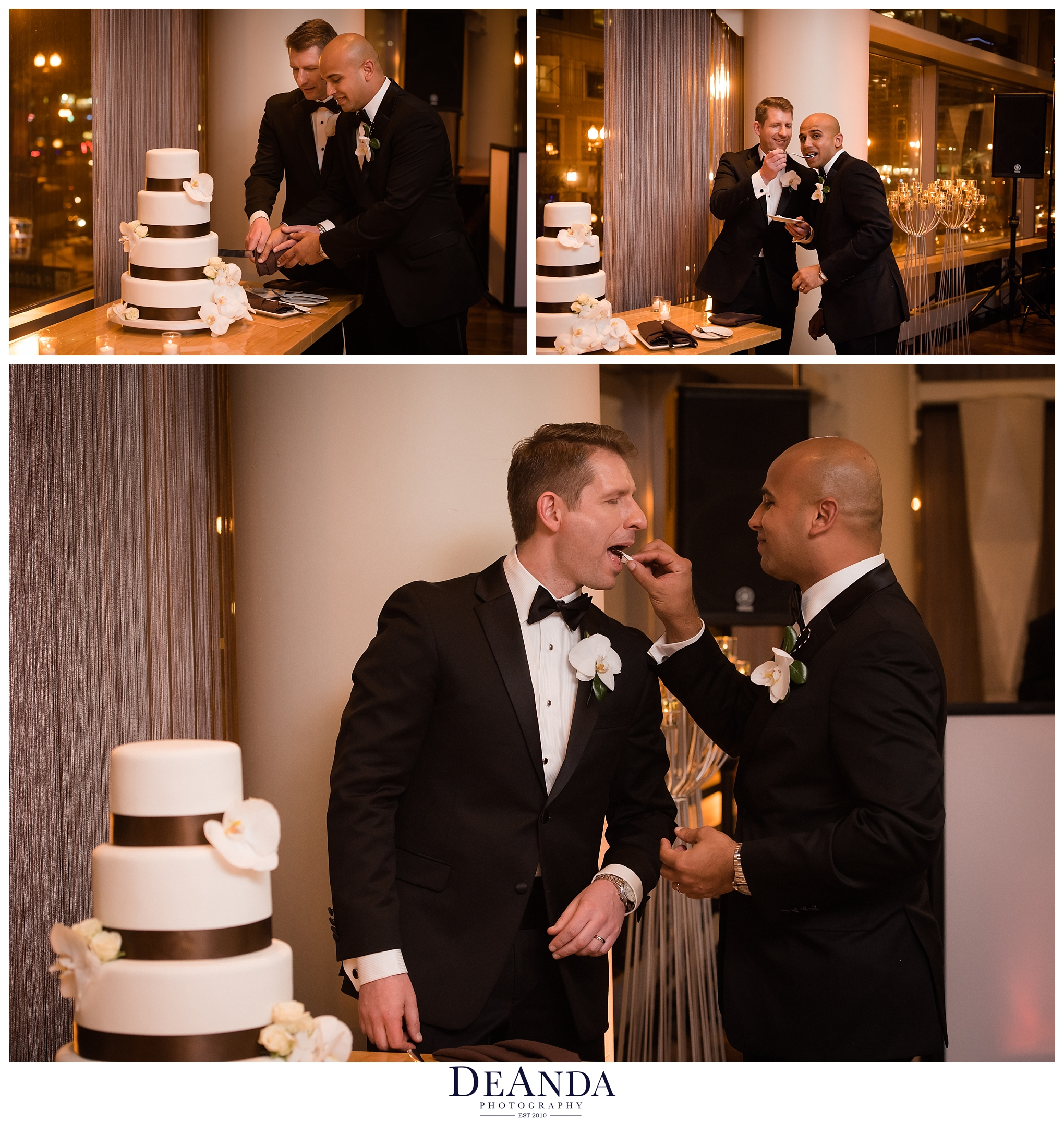 grooms cake cut at the wit chicago
