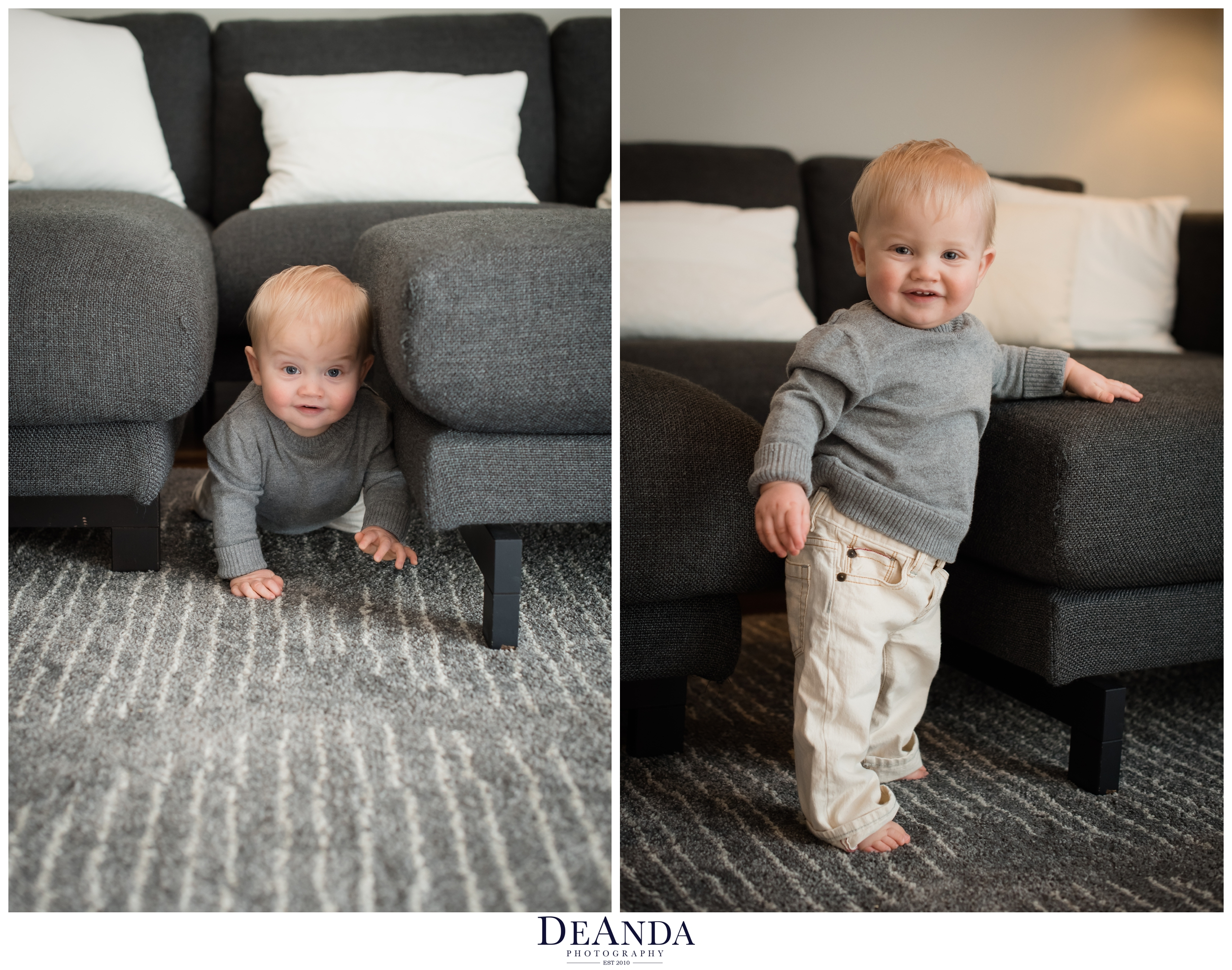 1 year old lifestyle portraits in home