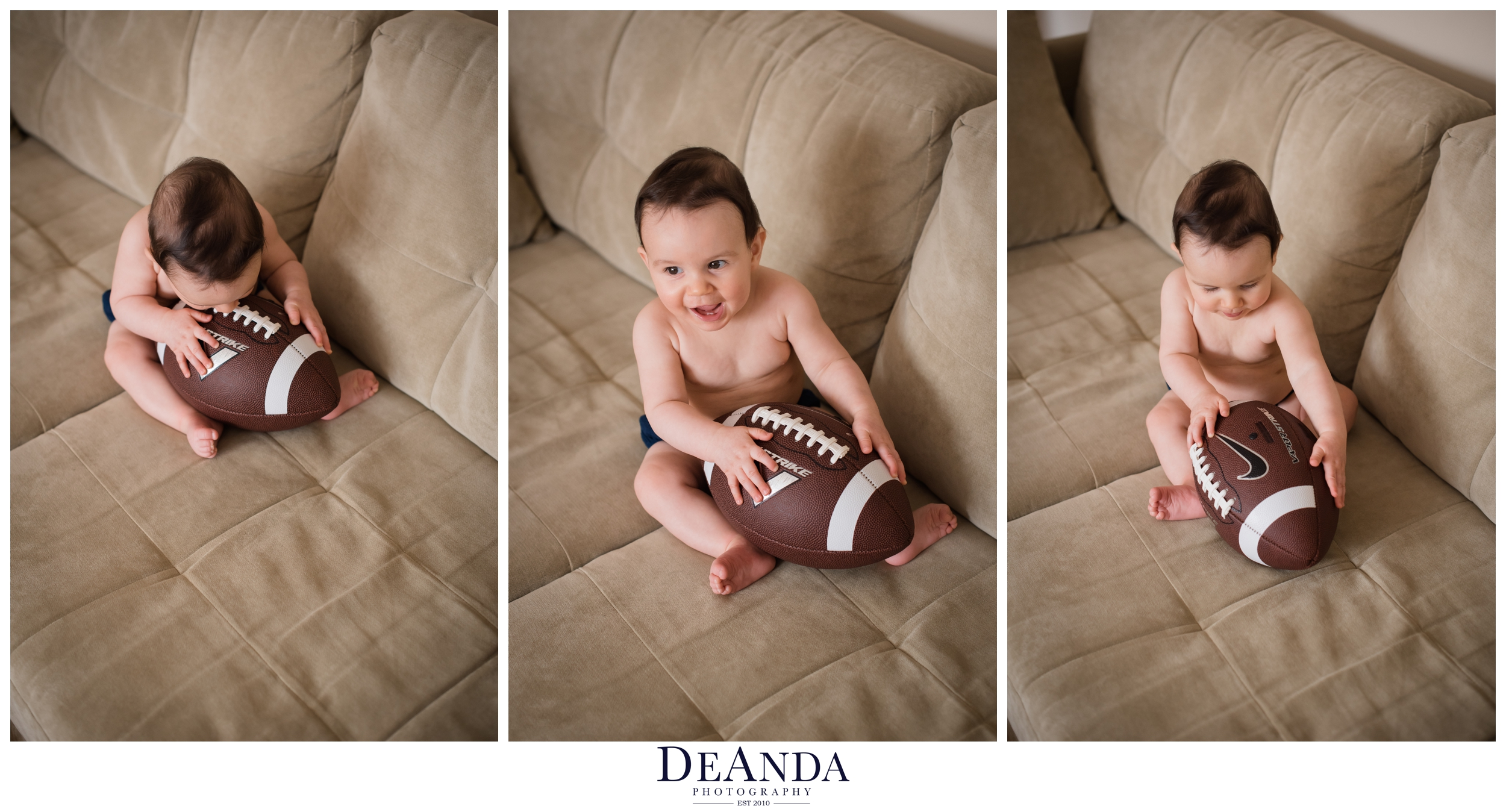 7 month old with football