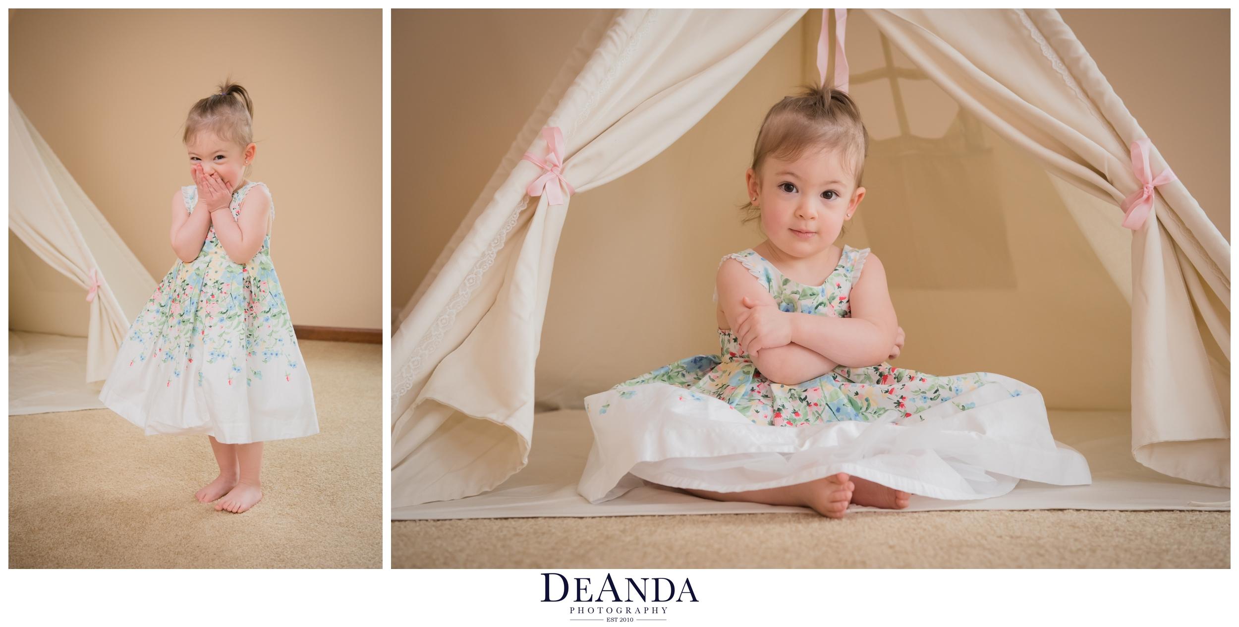 Little girl and mom mini shoot