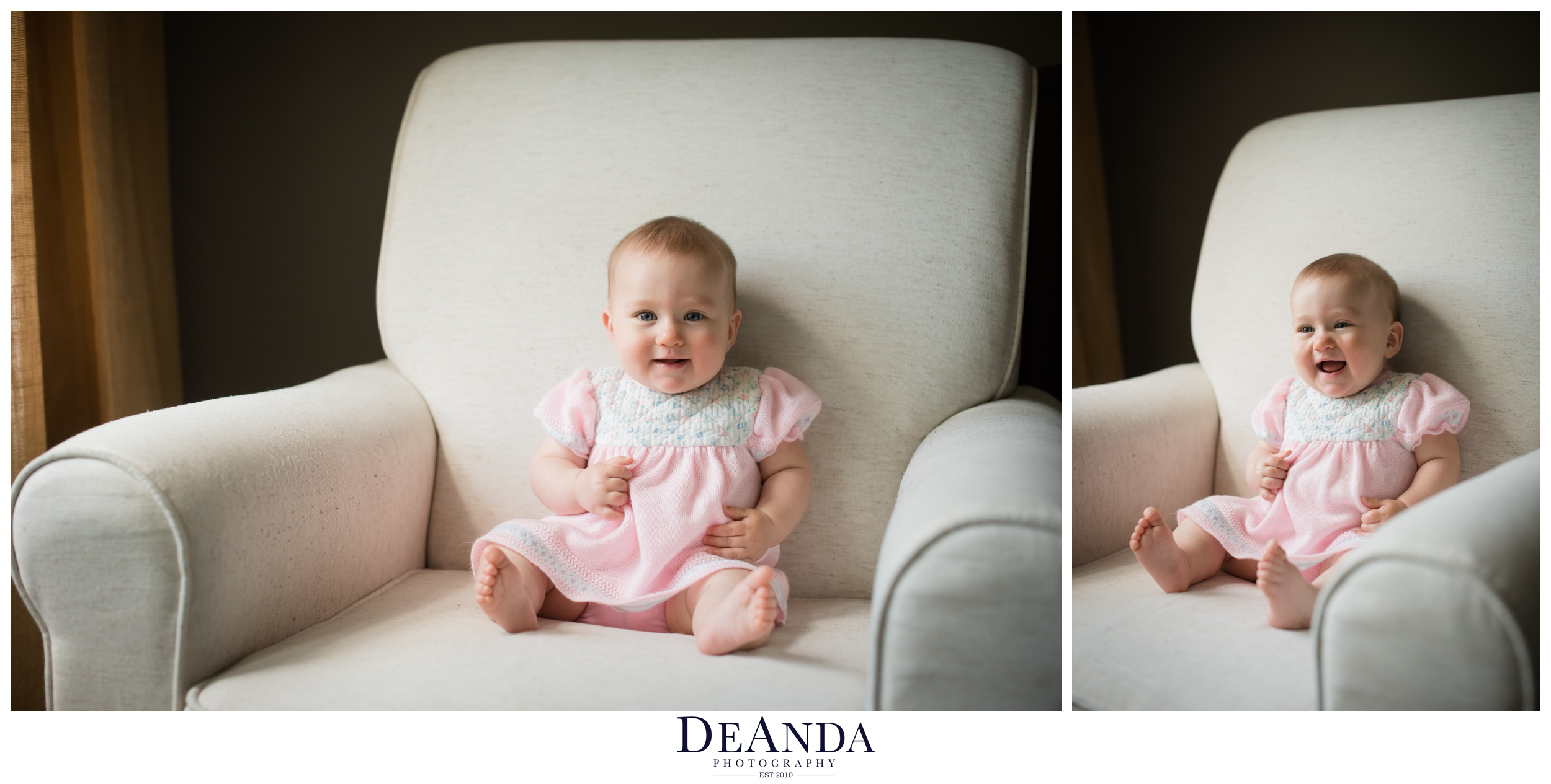 6 month old lifestyle portraits western springs