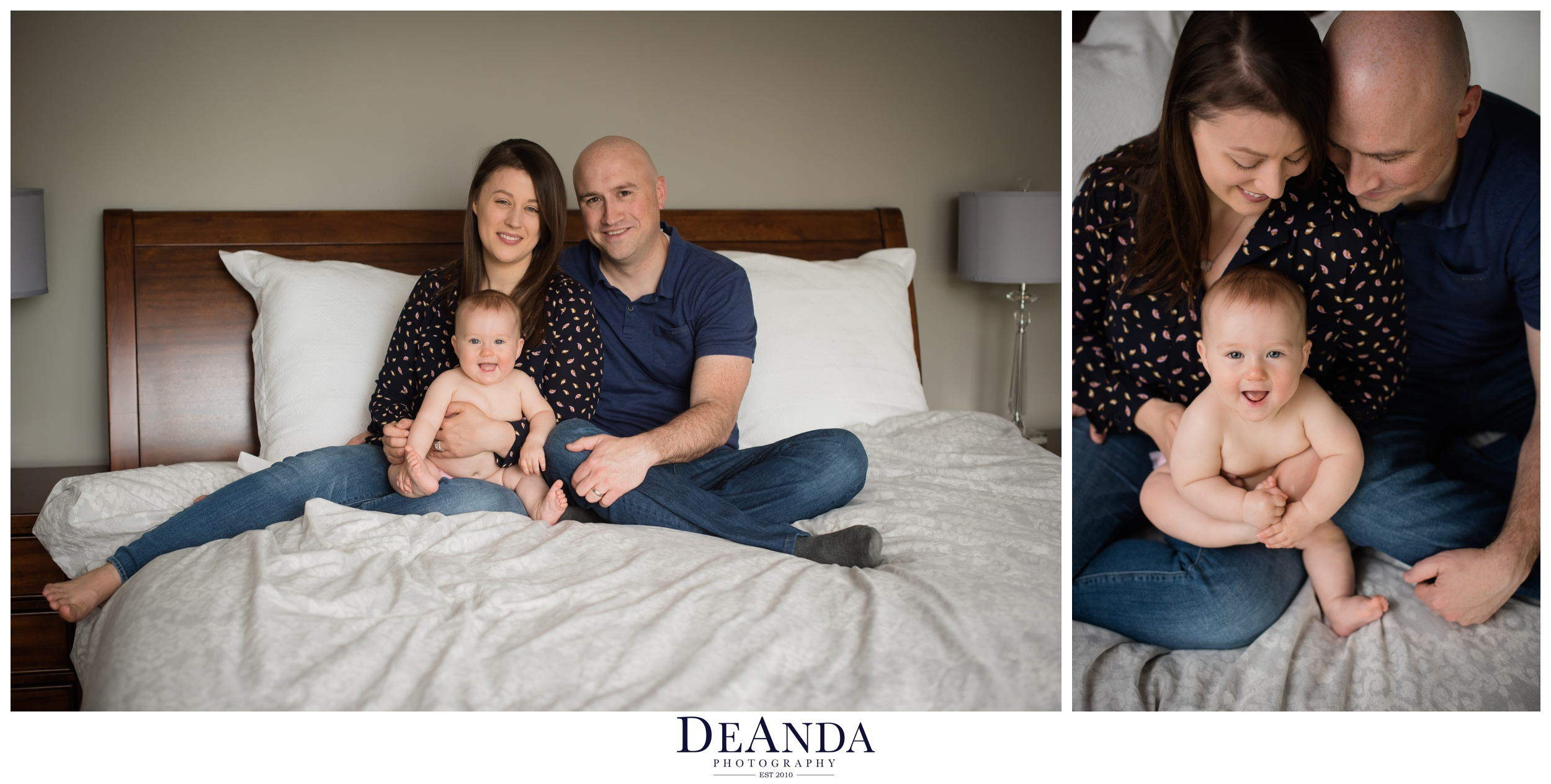 6 month old lifestyle family portraits western springs