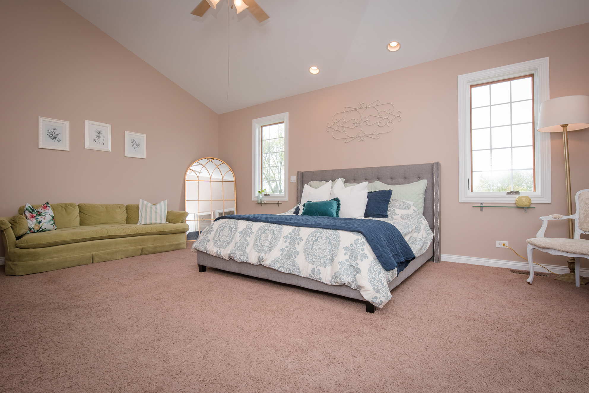 Master Bedroom - Make the bed and use those throw pillowsRemove any personal items or photosMake sure you don't see anything stored under the bedClear the nightstands