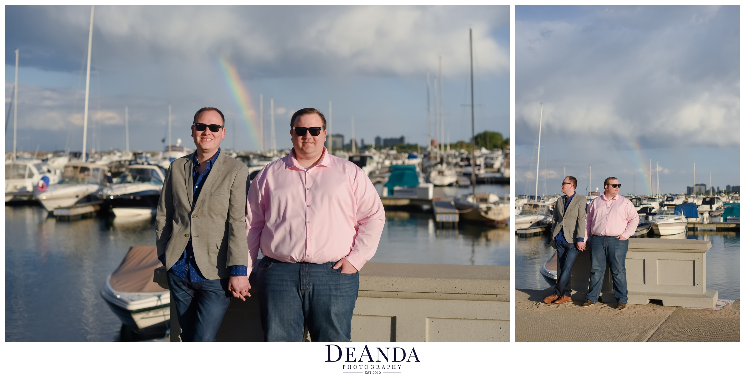 rainbow gay engagement session in chicago
