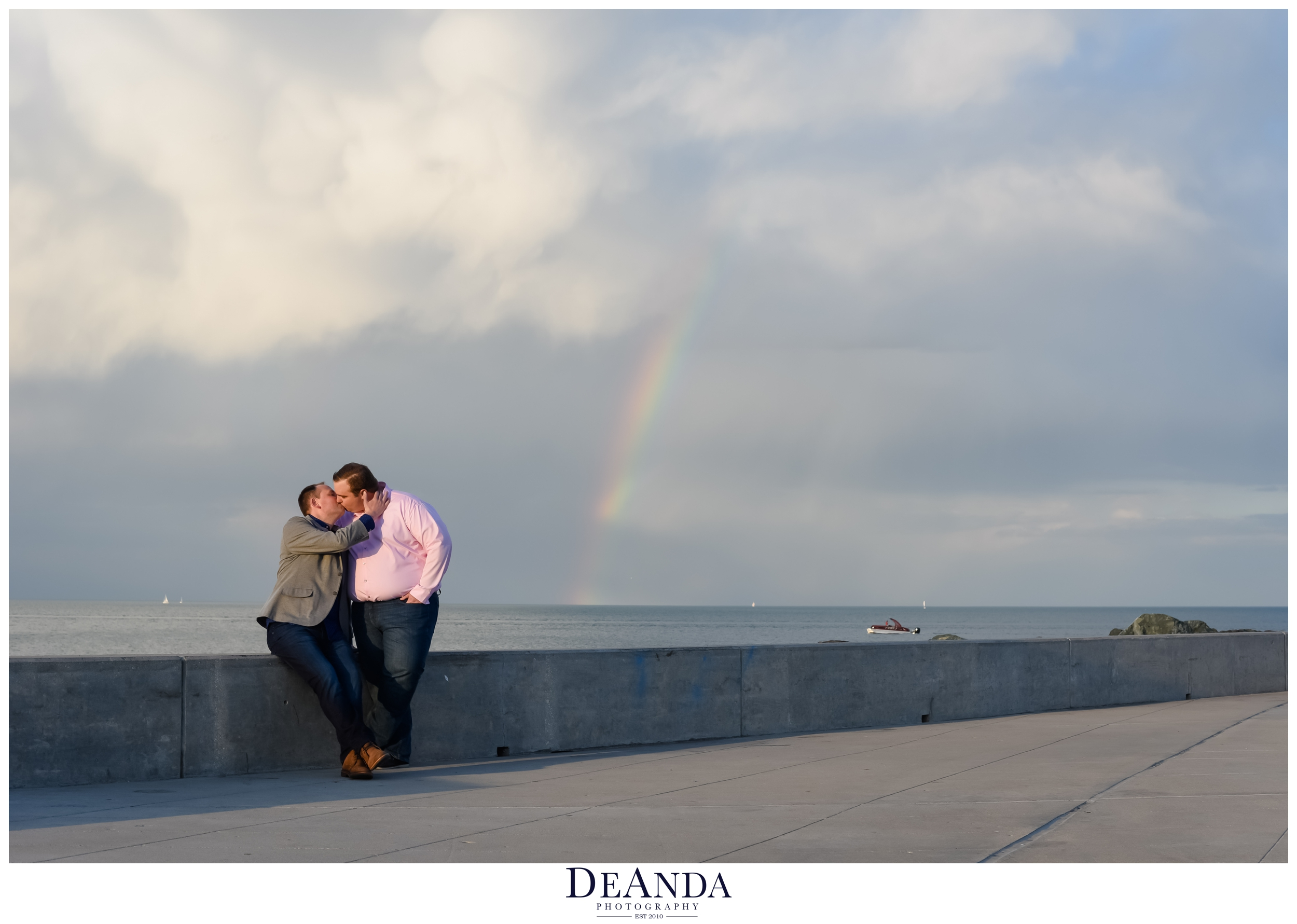 LGBT rainbow engagement session chicago