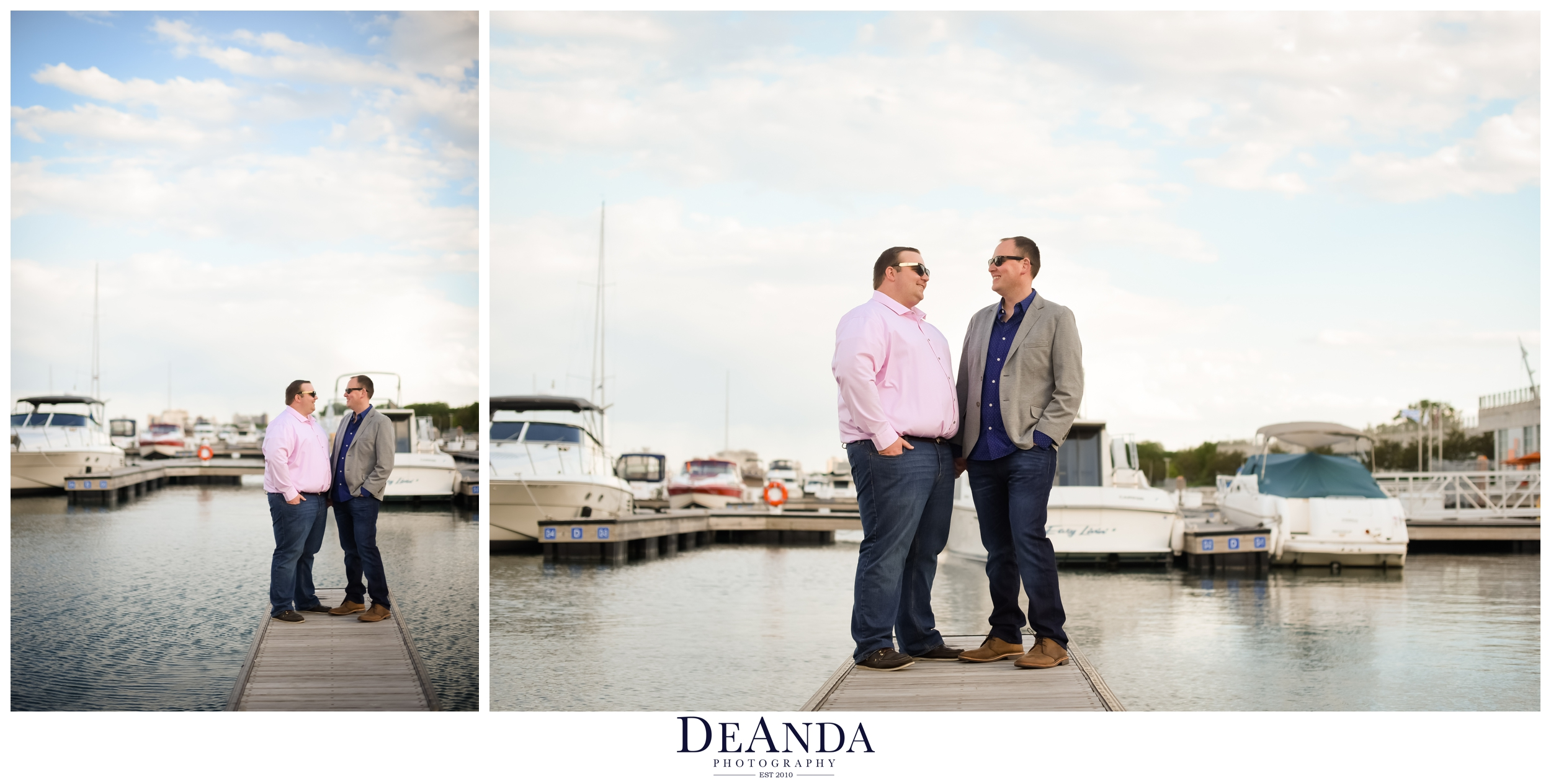 31st street harbor engagement photos