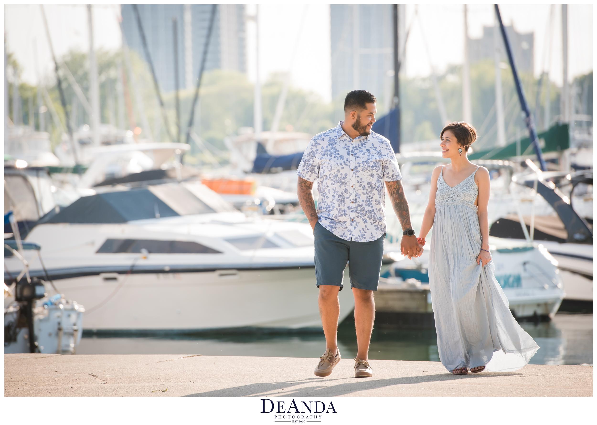 Chicago Montrose Harbor engagement photos