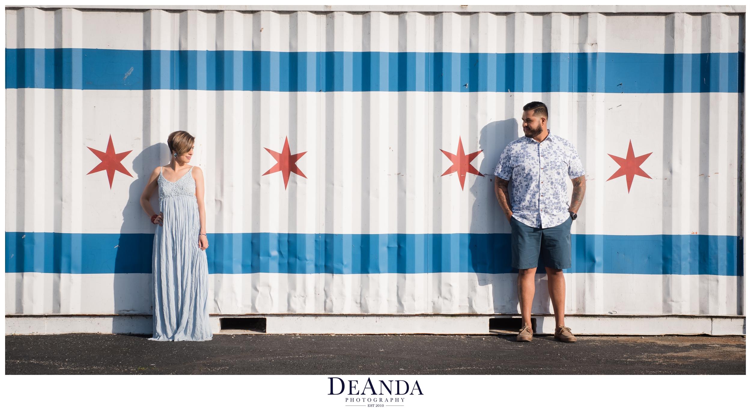 chicago Flag engagement photos