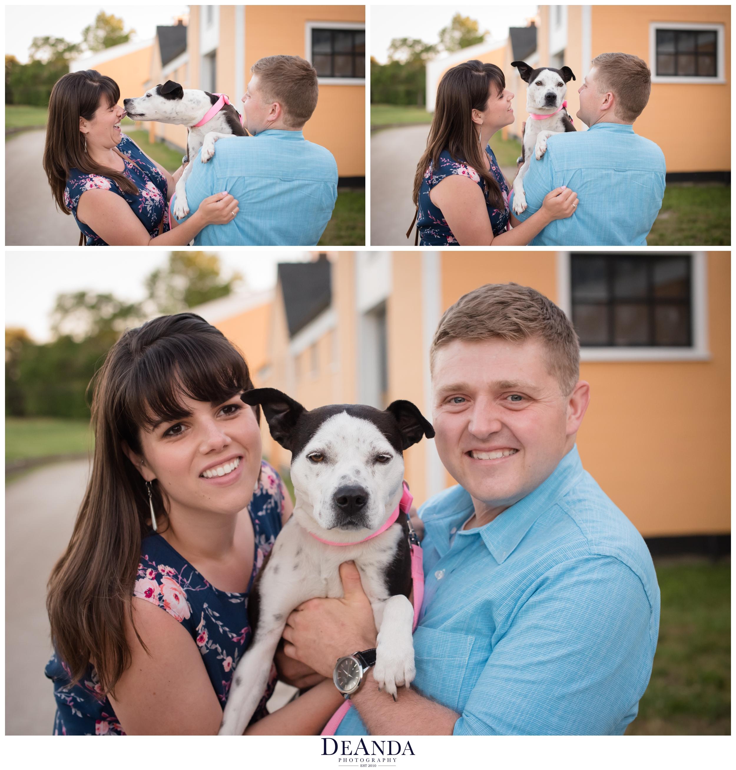 st.james farm engagement photo