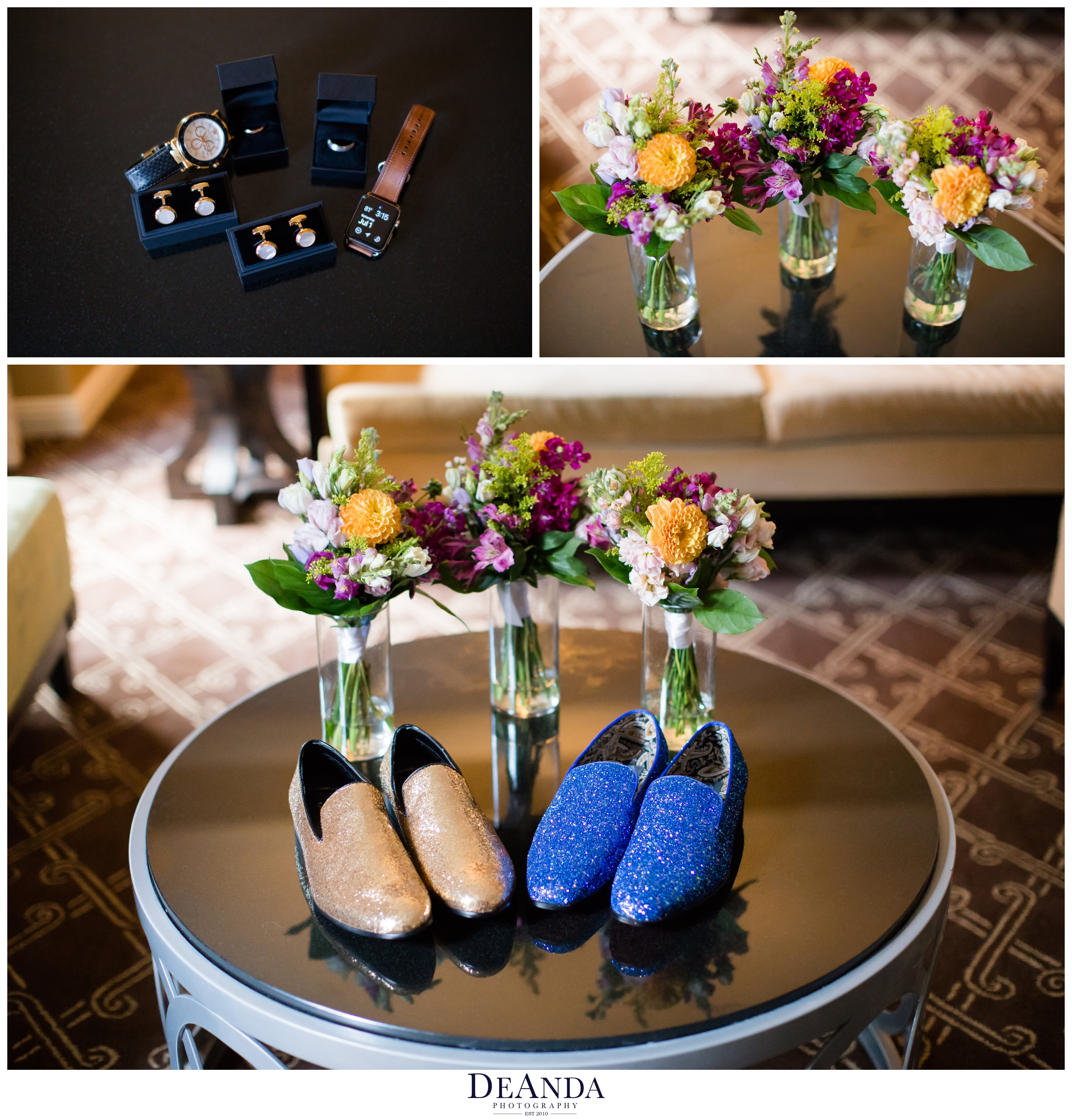 groom glitter shoes and accesories