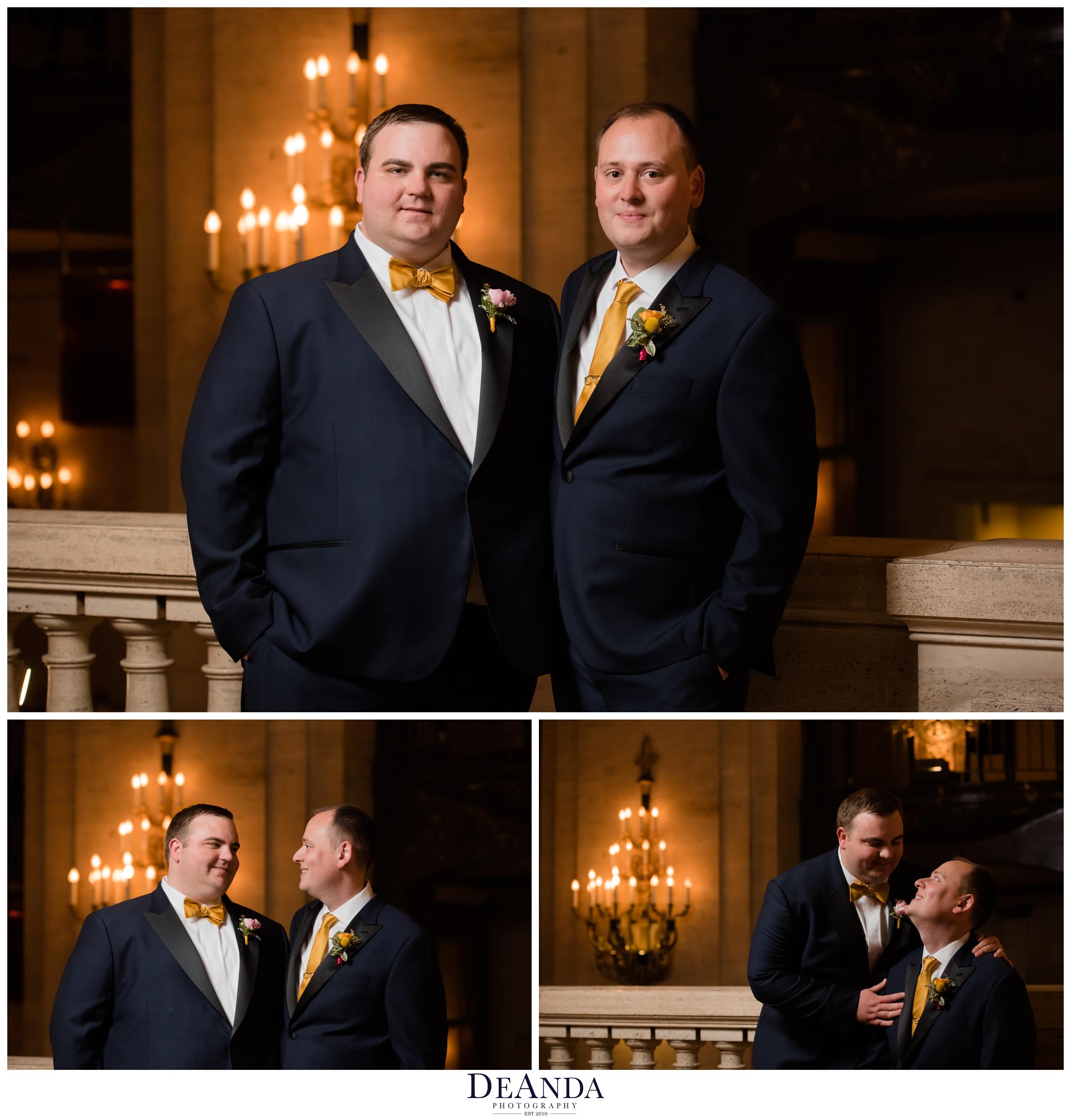gay wedding at chicago palmer house hotel