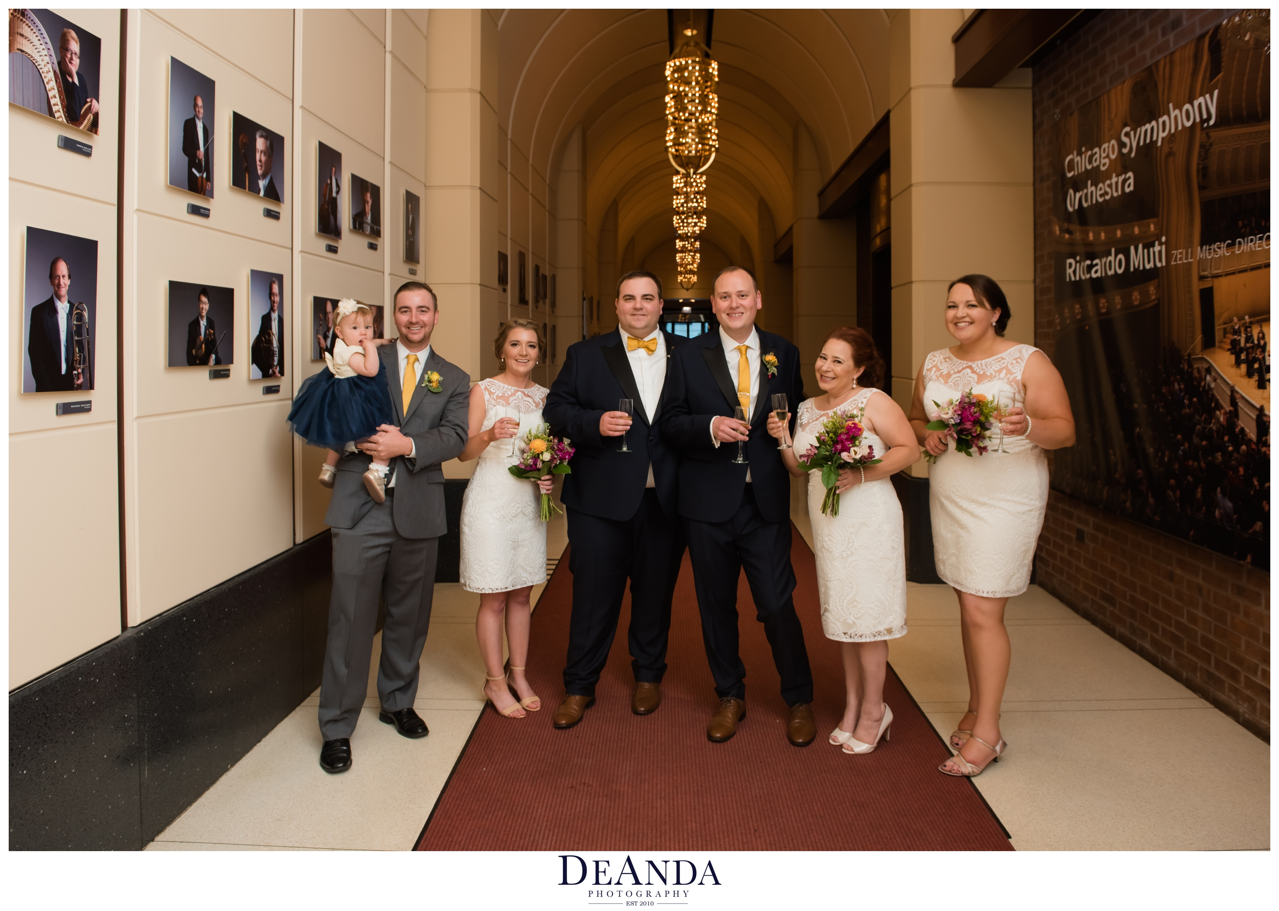 wedding party at chicago symphony center