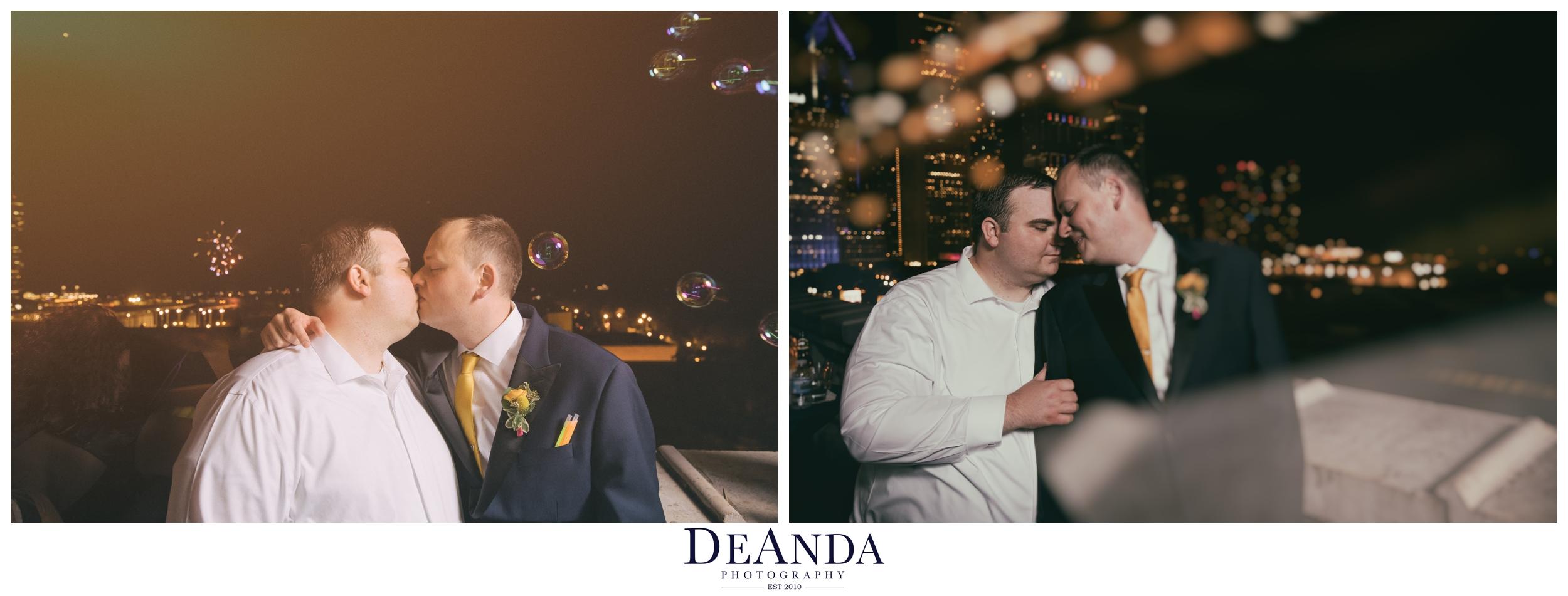chicago wedding fireworks