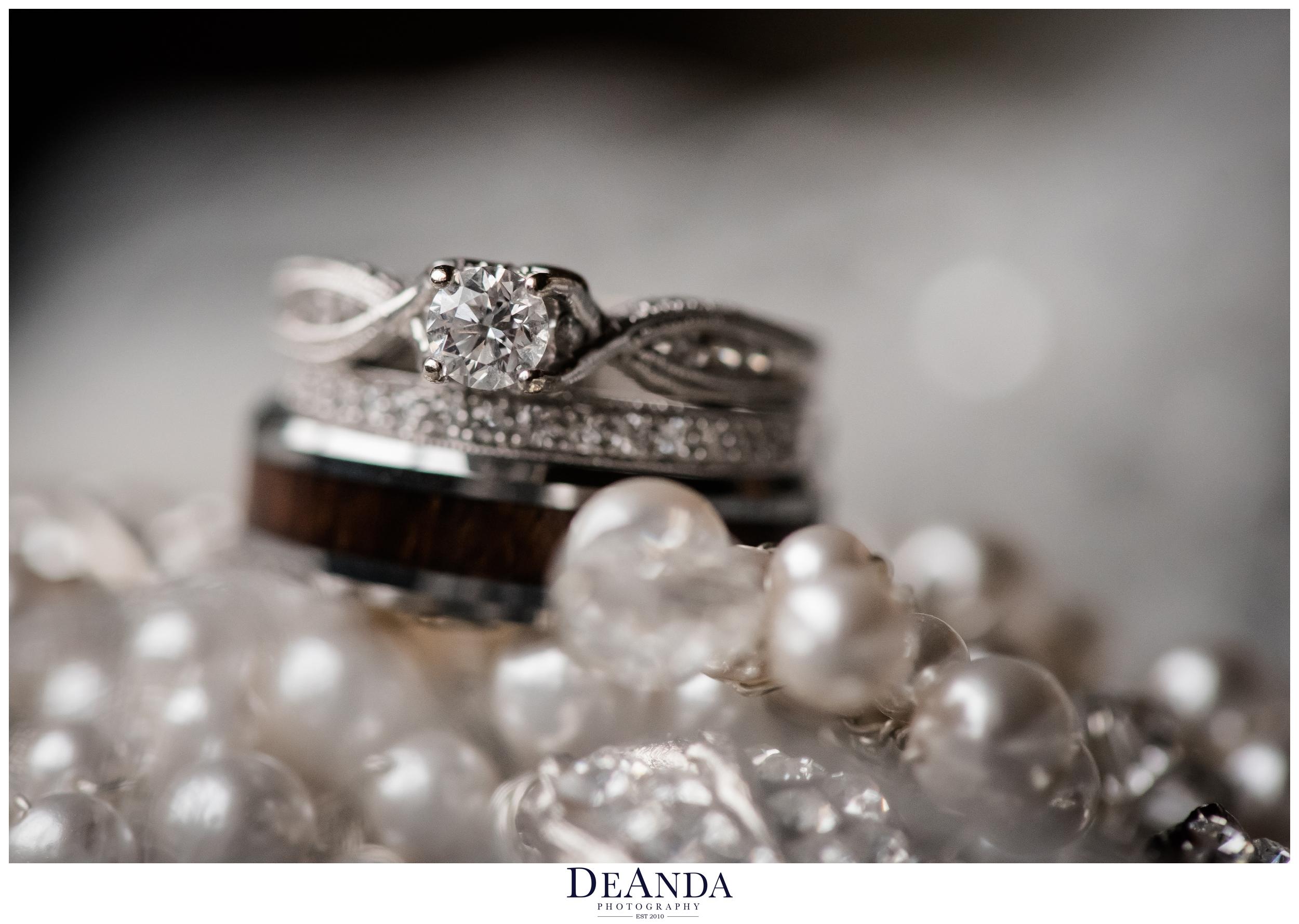 wedding rings at Pheasant Run Resort in St.Charles Illinois
