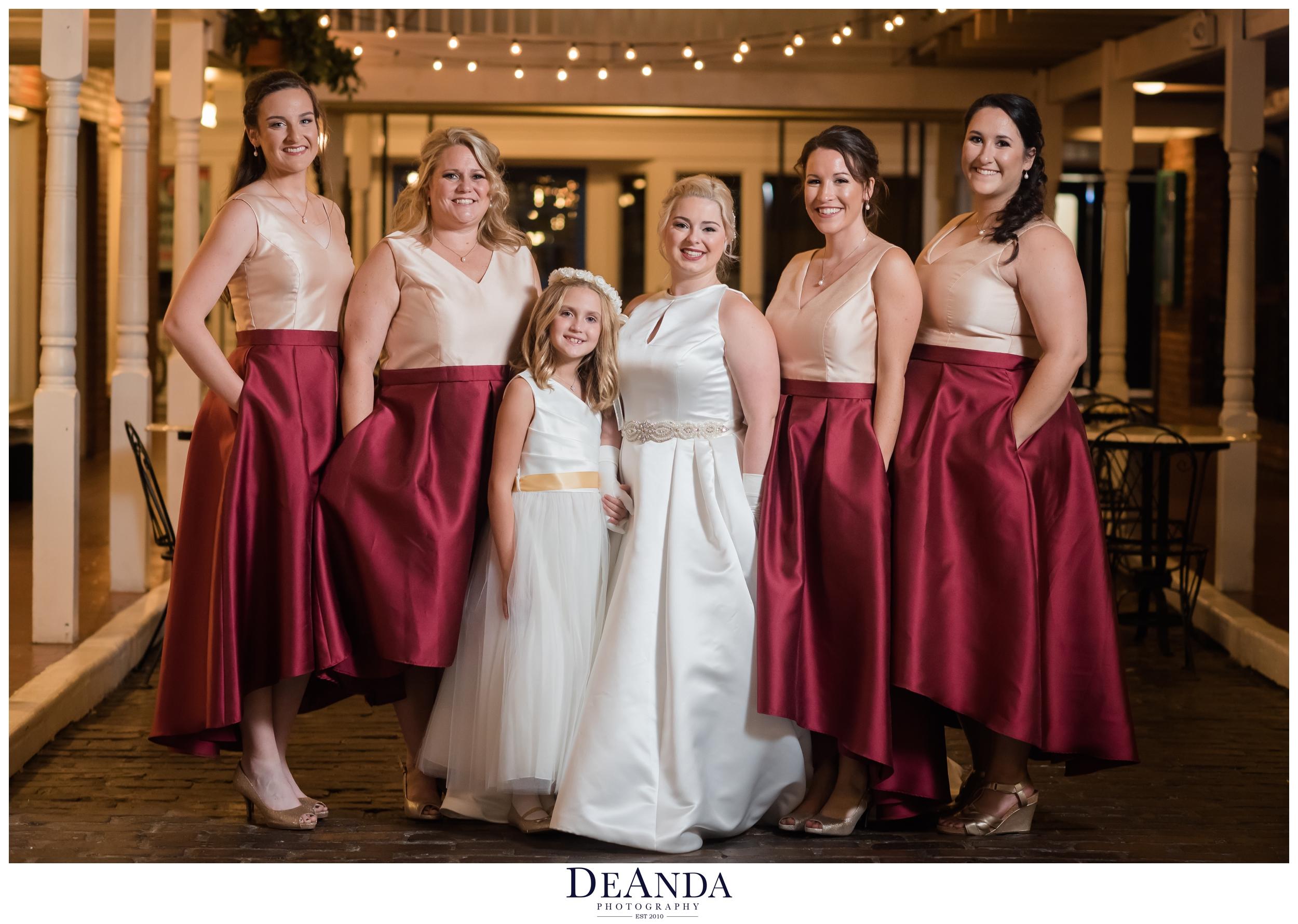 bridal party at Pheasant Run Resort in St.Charles Illinois